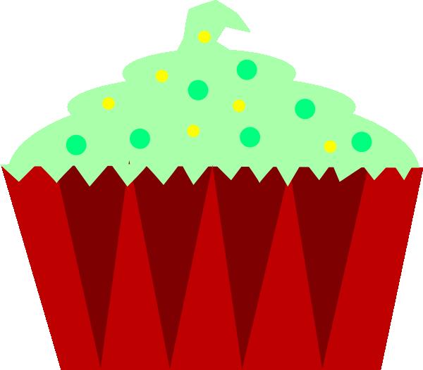Christmas clip art at. Muffins clipart green cupcake