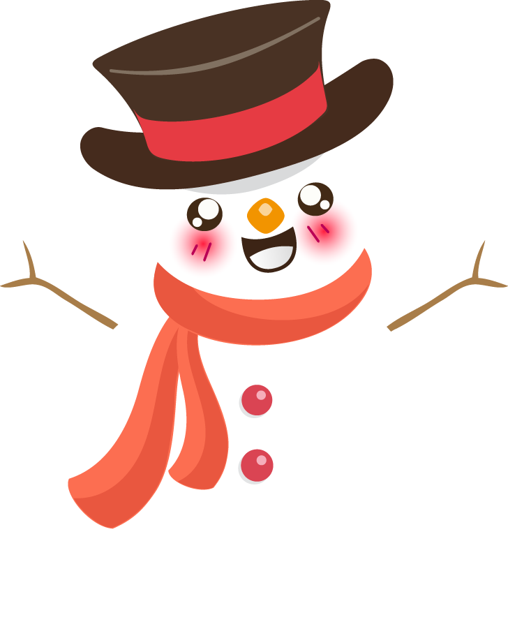 collection of cute. Mexican clipart snowman
