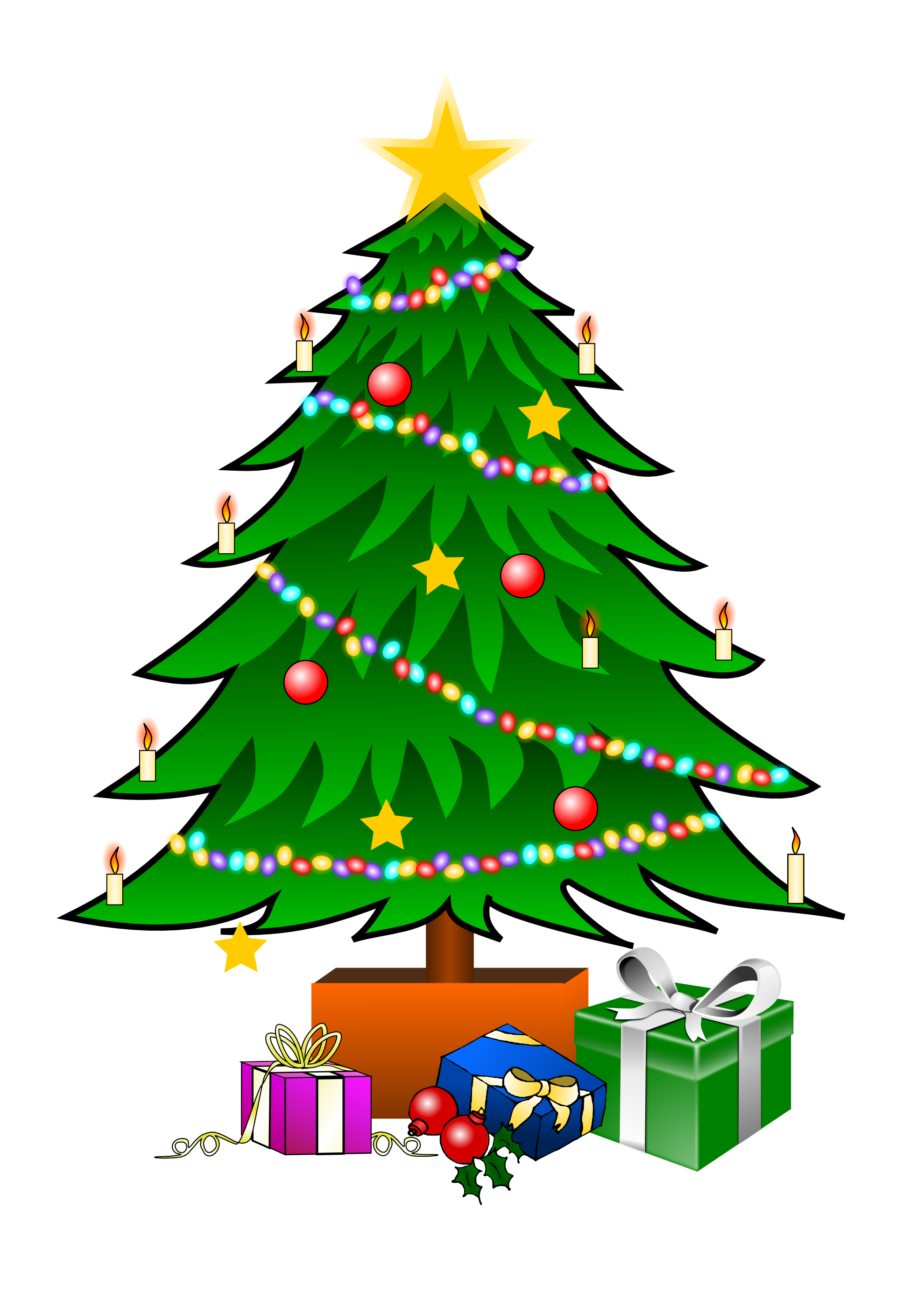 Tree transparent png pictures. December clipart merry christmas