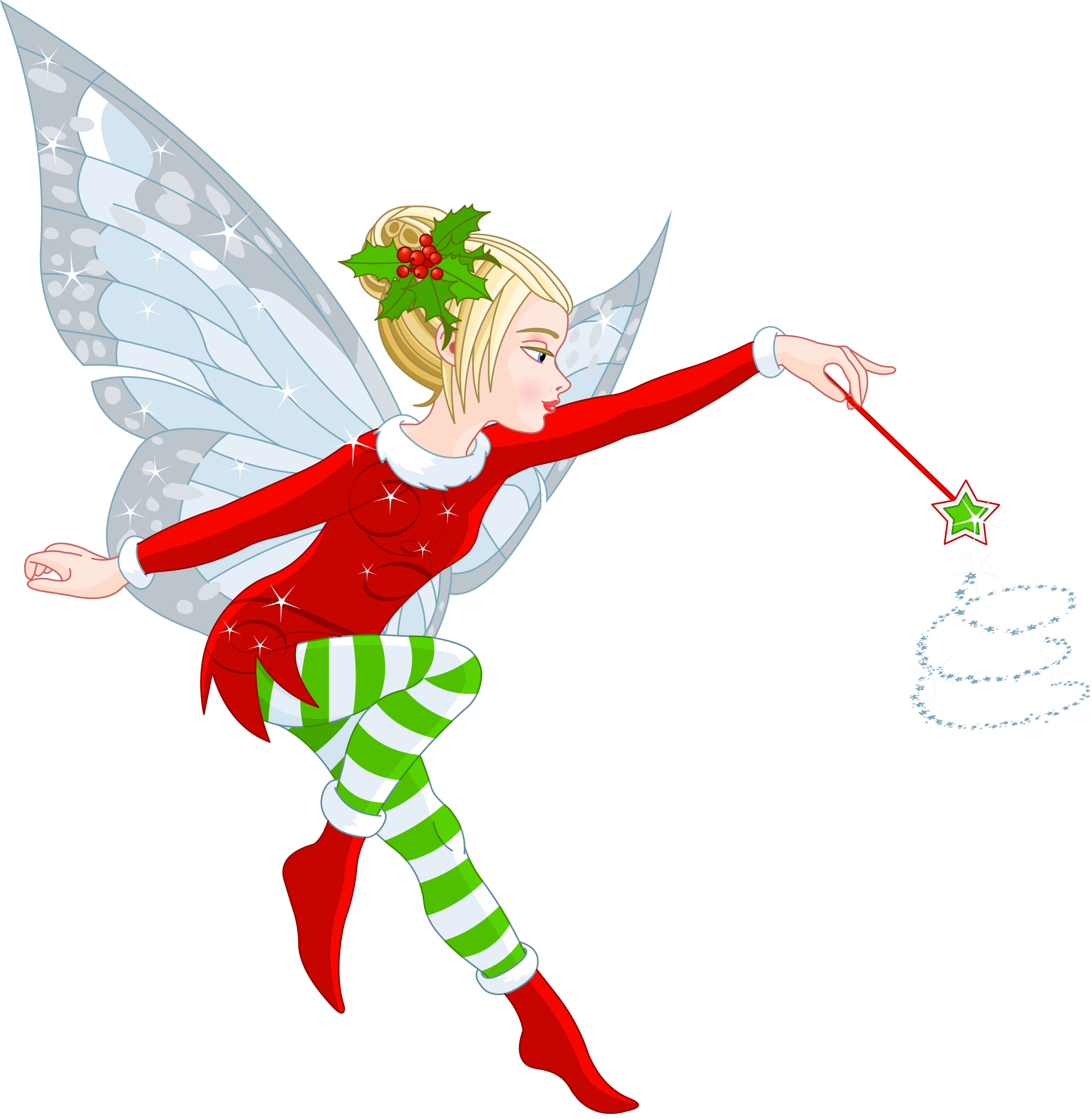 Transparent christmas girl png. Stamp clipart elf