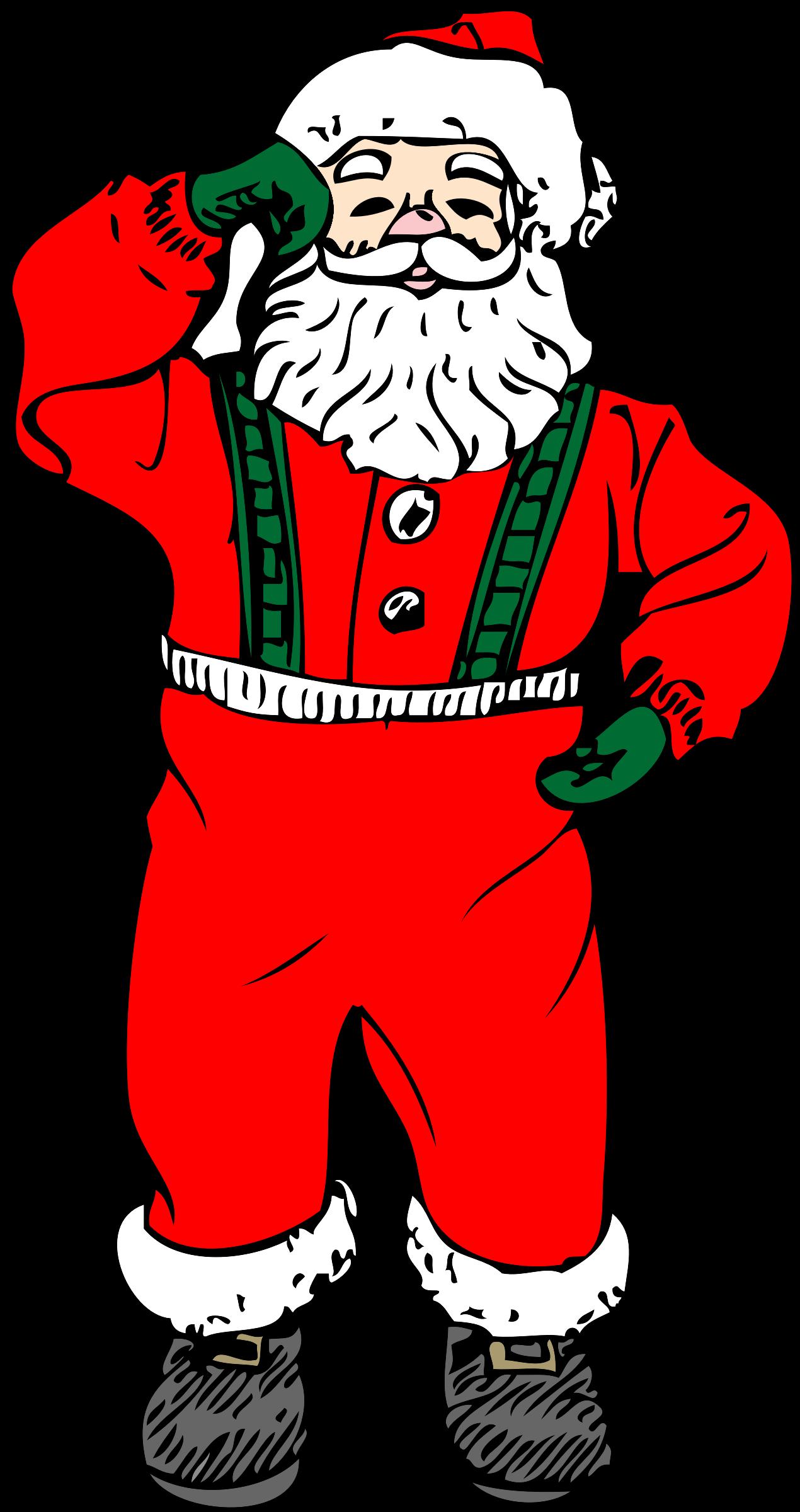 Dancing big image png. Santa clipart printable