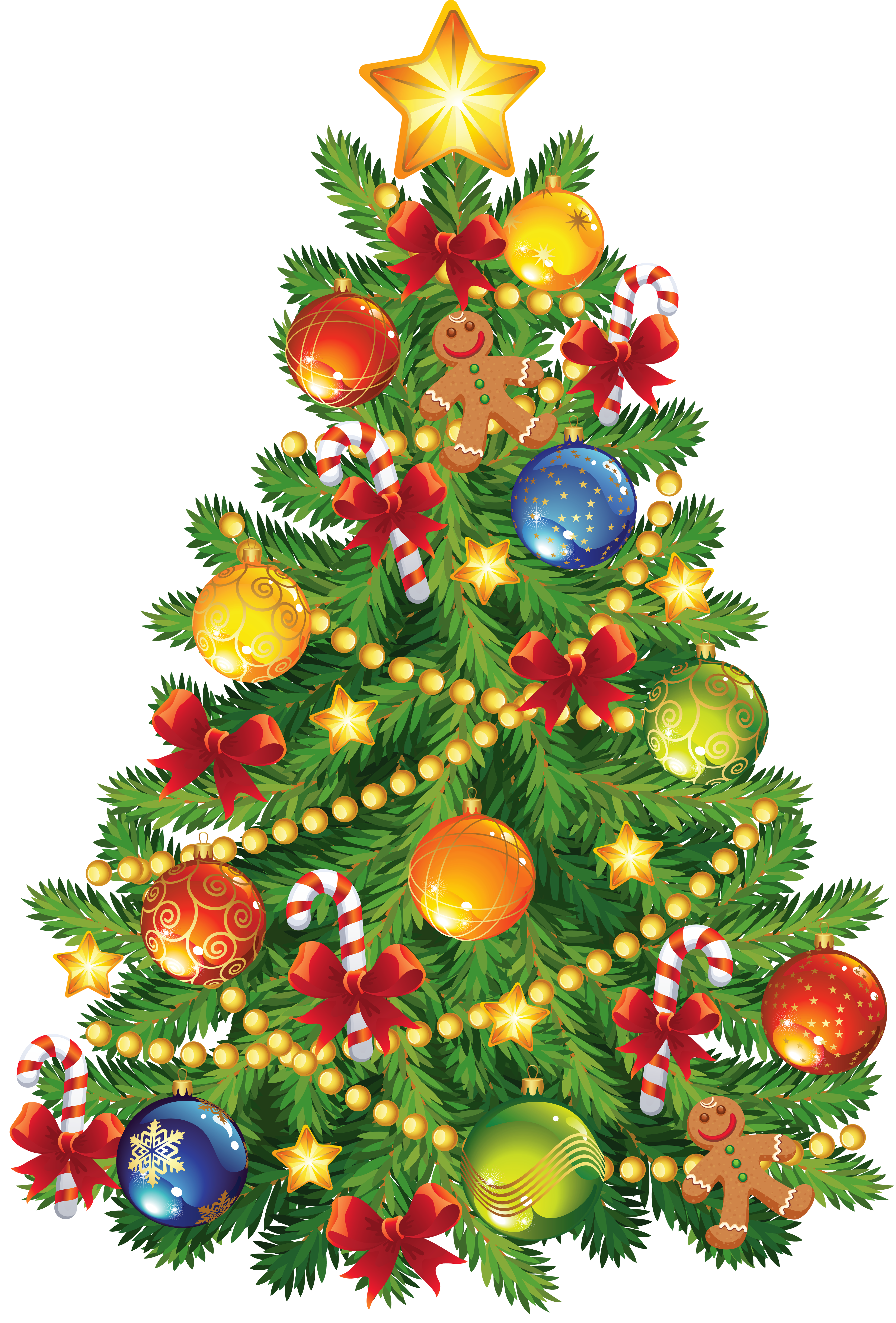 Large transparent christmas with. Gingerbread clipart gingerbread tree