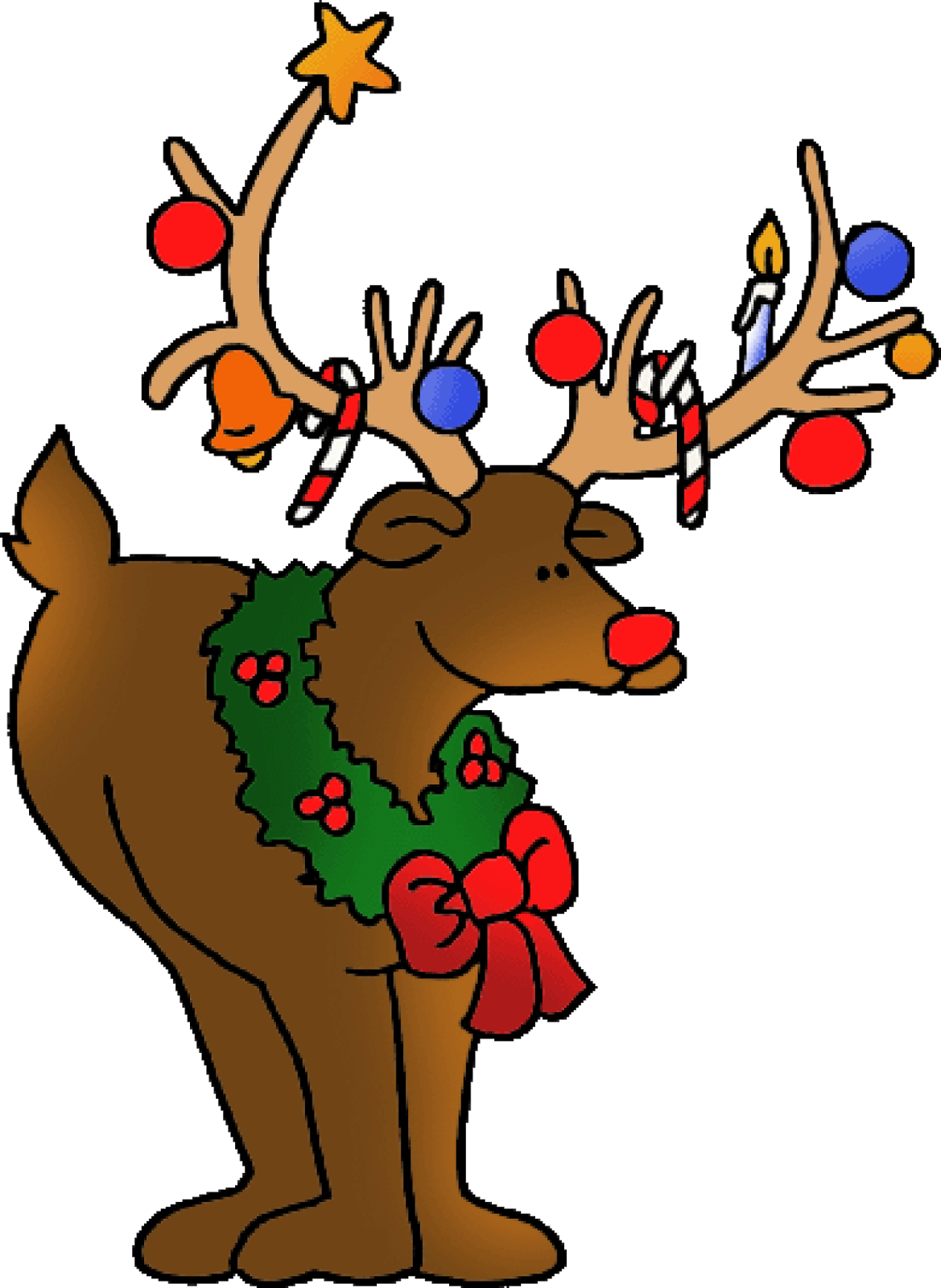 High definition for hd. Deer clipart merry christmas