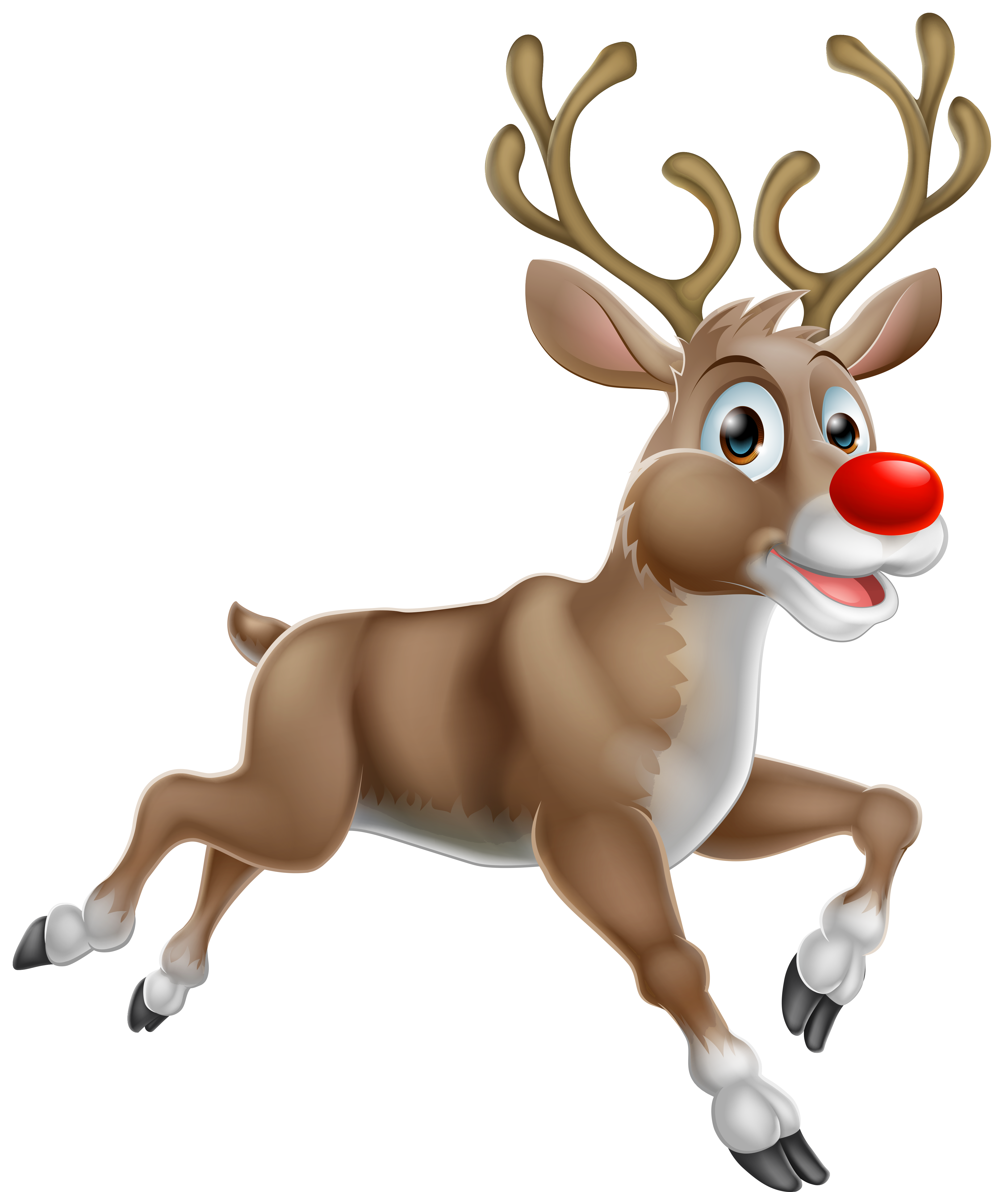Transparent christmas rudolph png. Santa clipart deer
