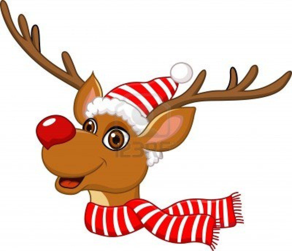 Stock vector christmas santas. Clipart reindeer illustration