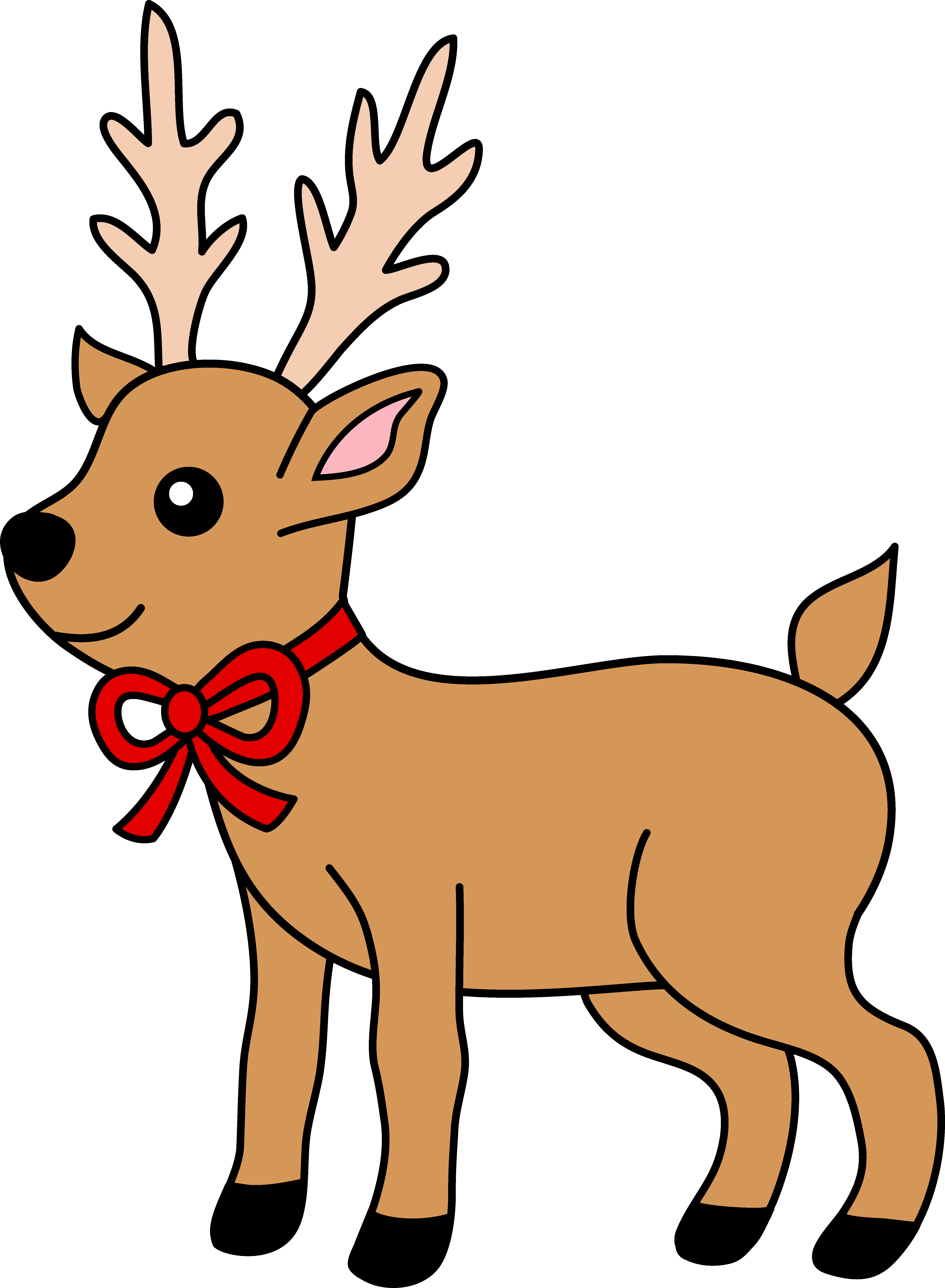 Free christmas cliparts download. Deer clipart nose