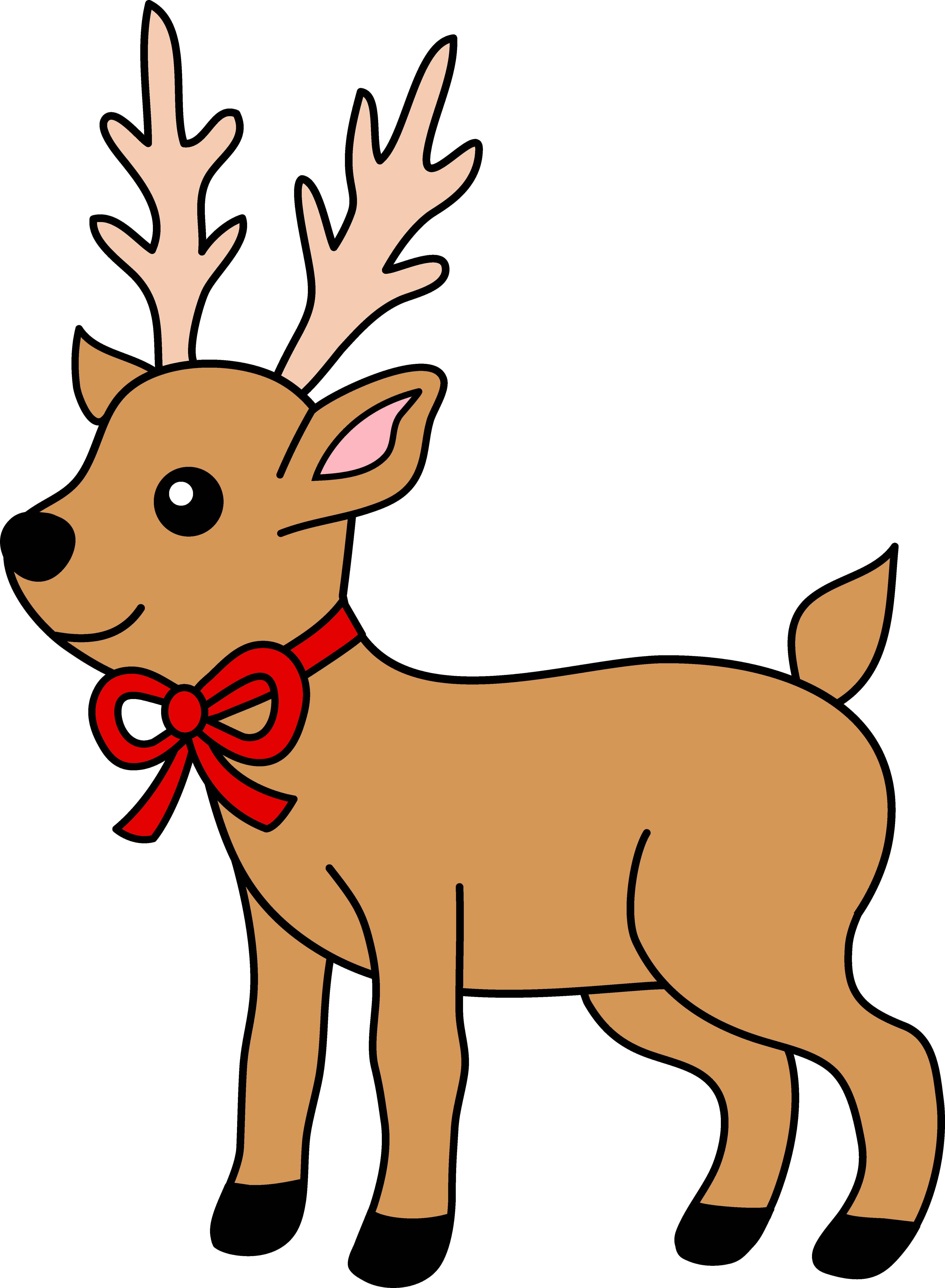 Free christmas deer cliparts. Girls clipart reindeer