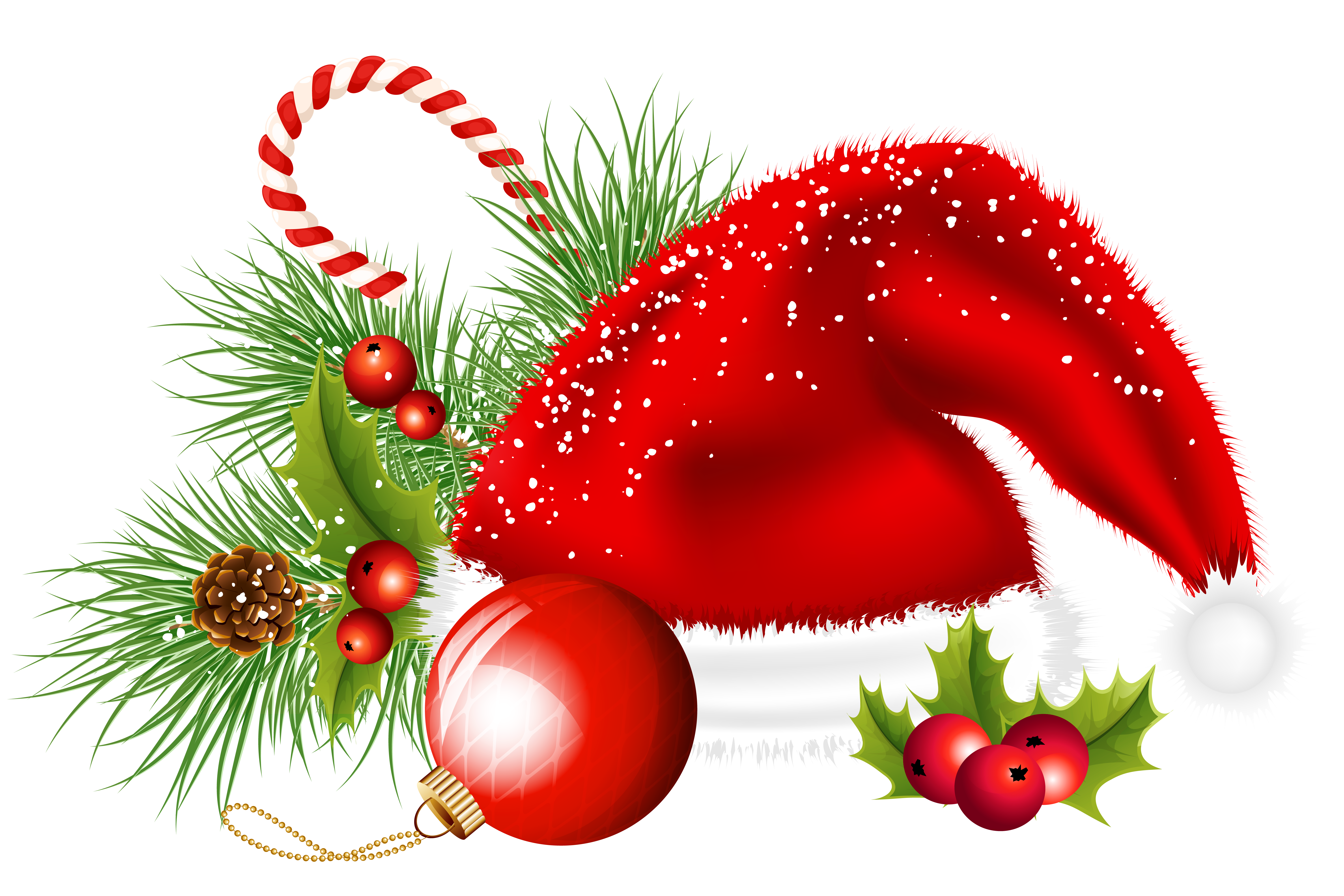 Transparent santa hat and. Christmas png images