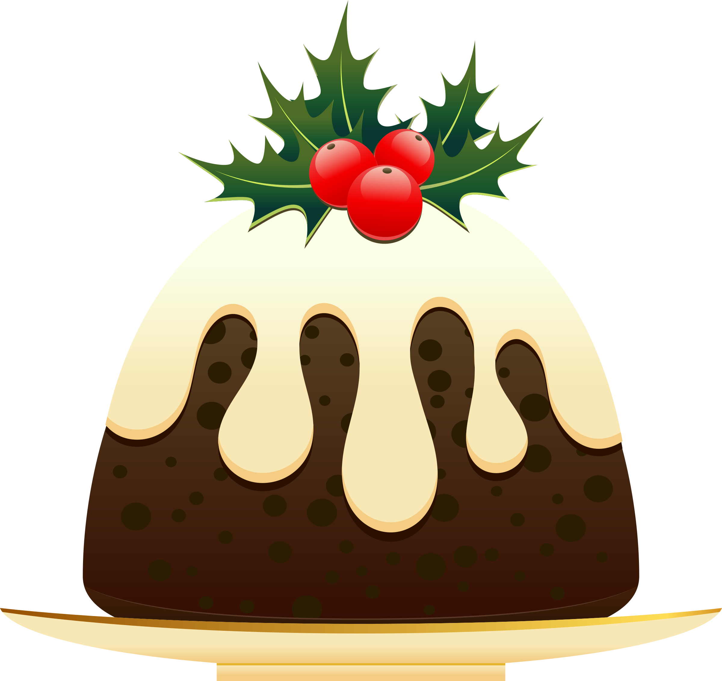 Christmas pudding. Gingerbread clipart festive