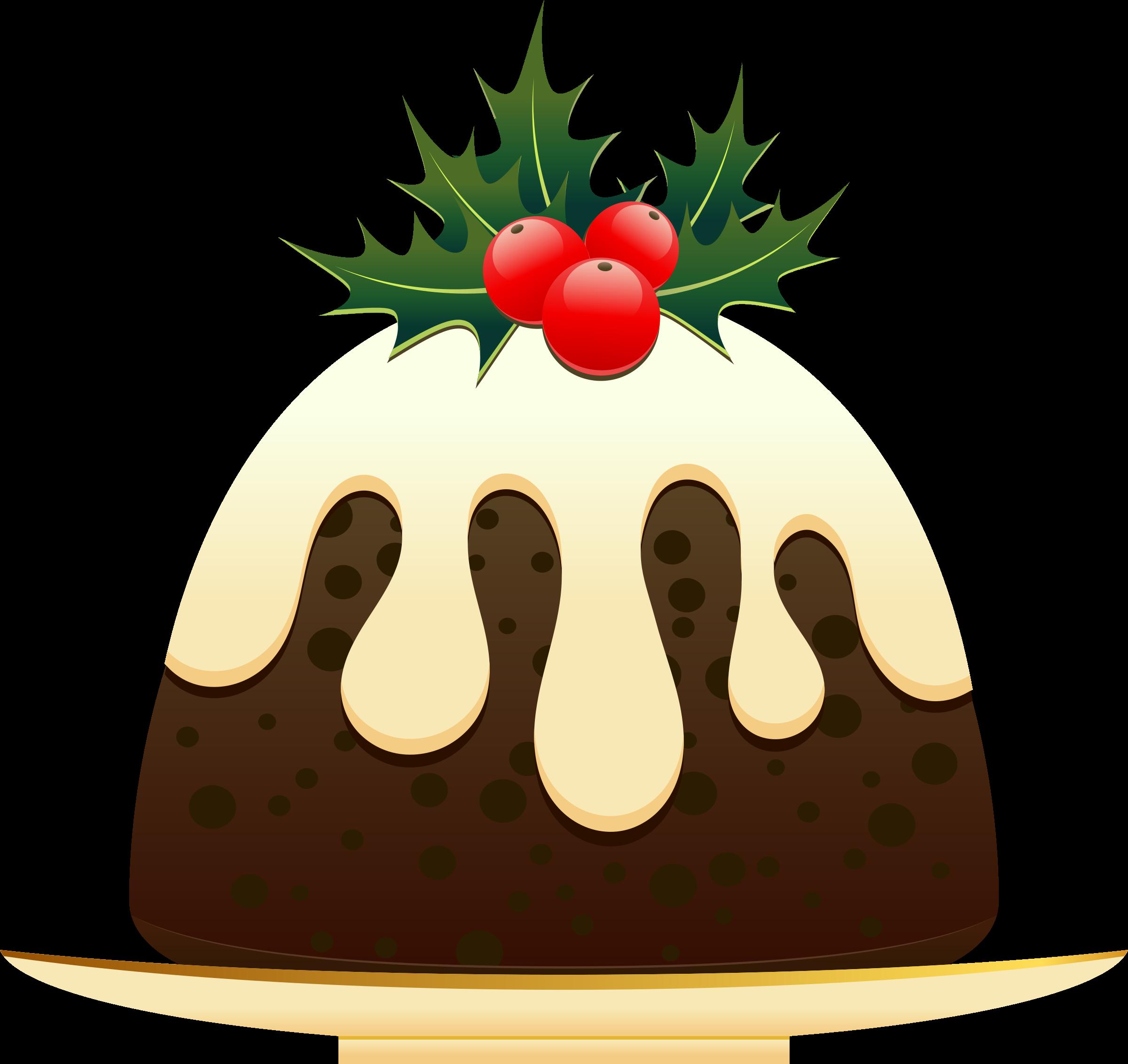 Christmas pudding. Poinsettia clipart animated