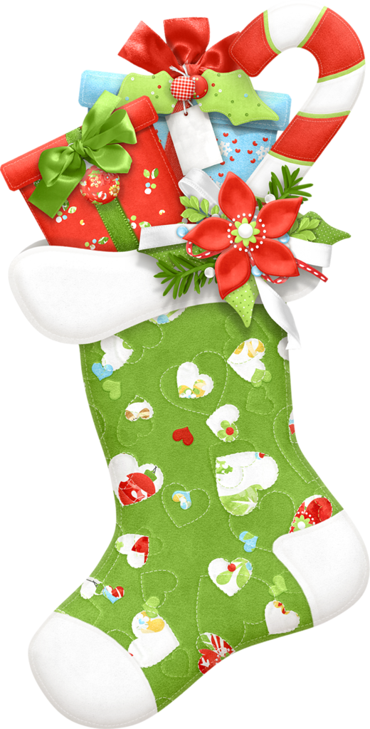 Stocking clip art. Quilting clipart christmas