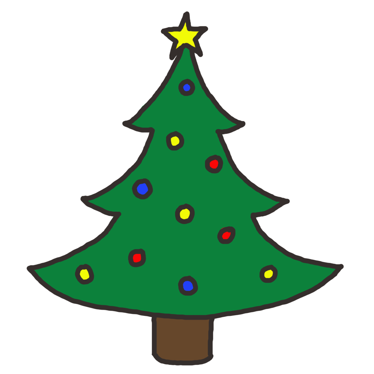 July clipart christmas. Simple tree find craft