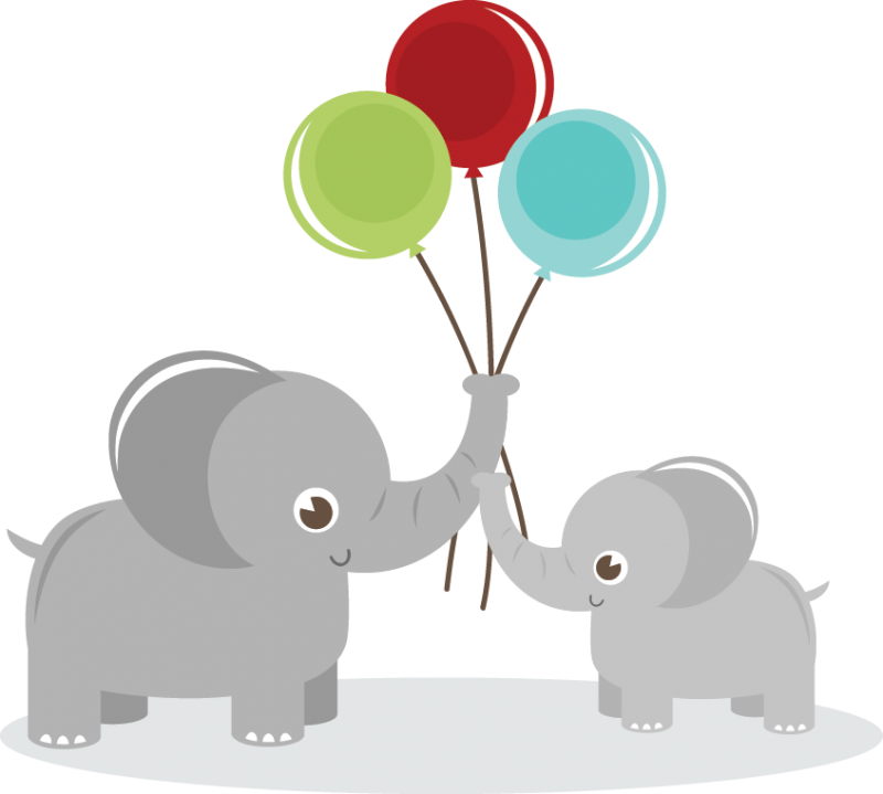 Elephants holding balloons svg. Graduation clipart elephant