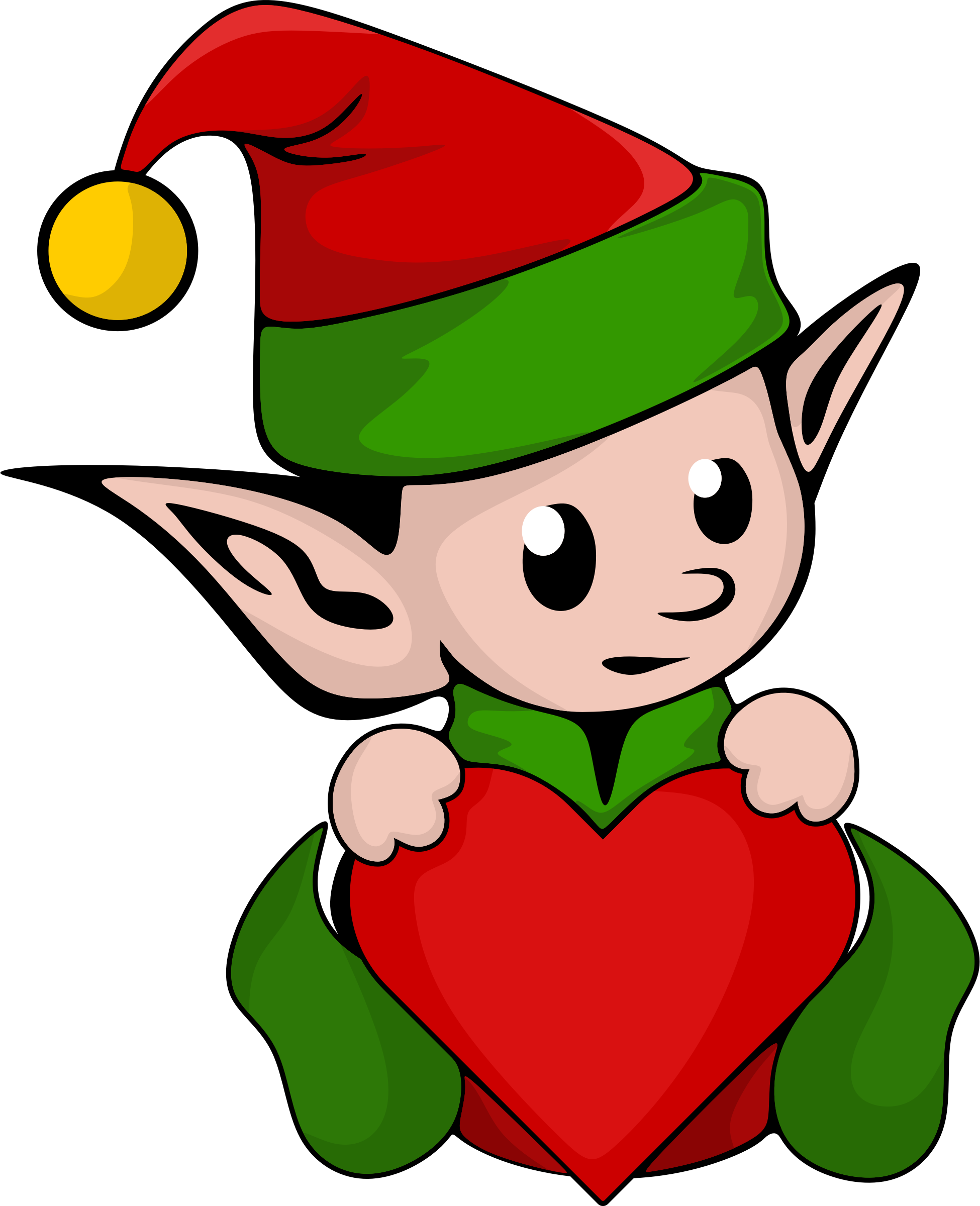 Elves clipart cut out. Cute elf at getdrawings