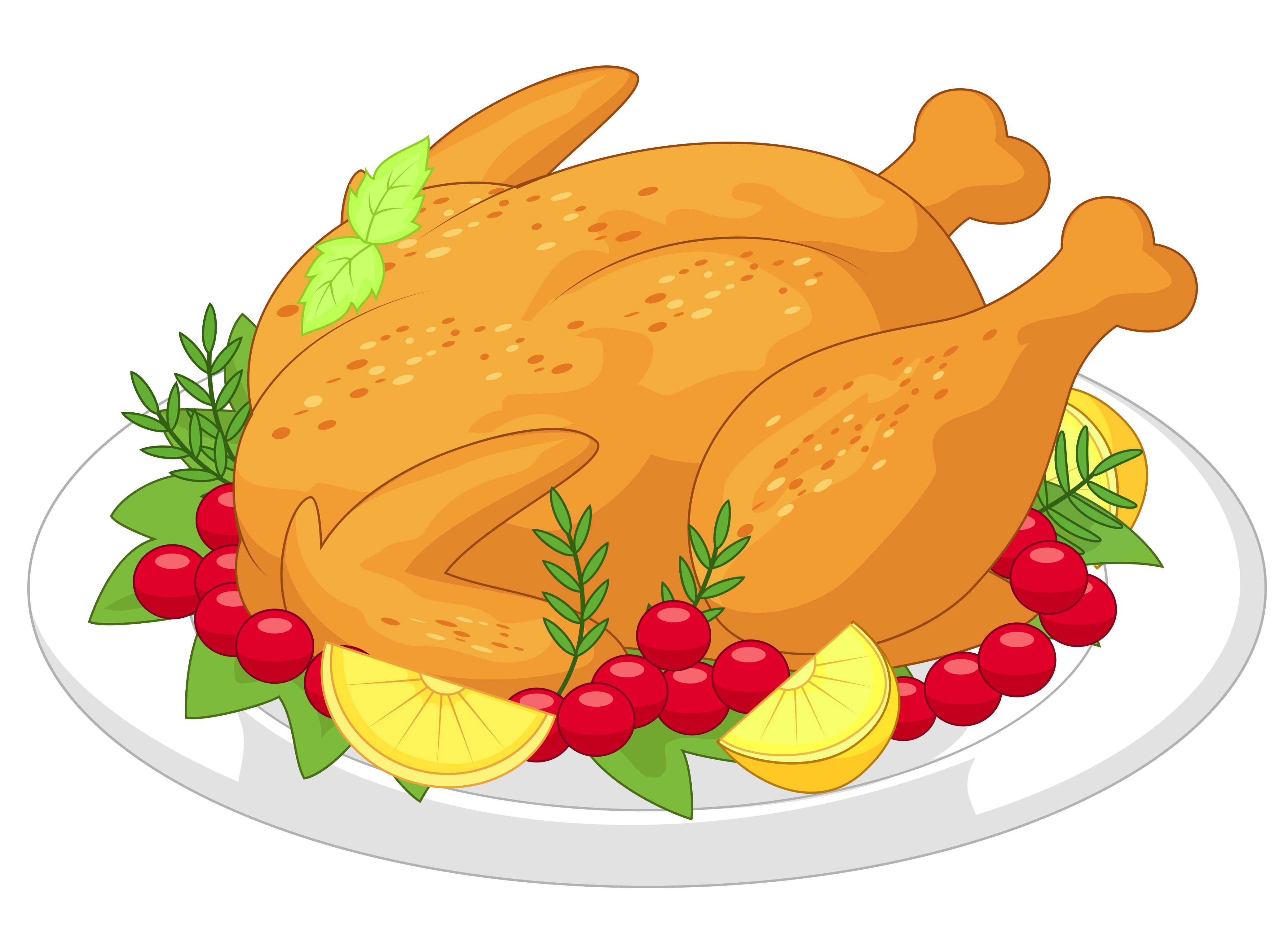 collection of turkey. Ham clipart christmas lunch