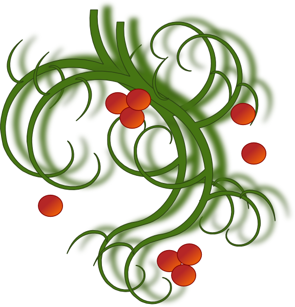 Christmas swirls clip art. Diner clipart lunch special