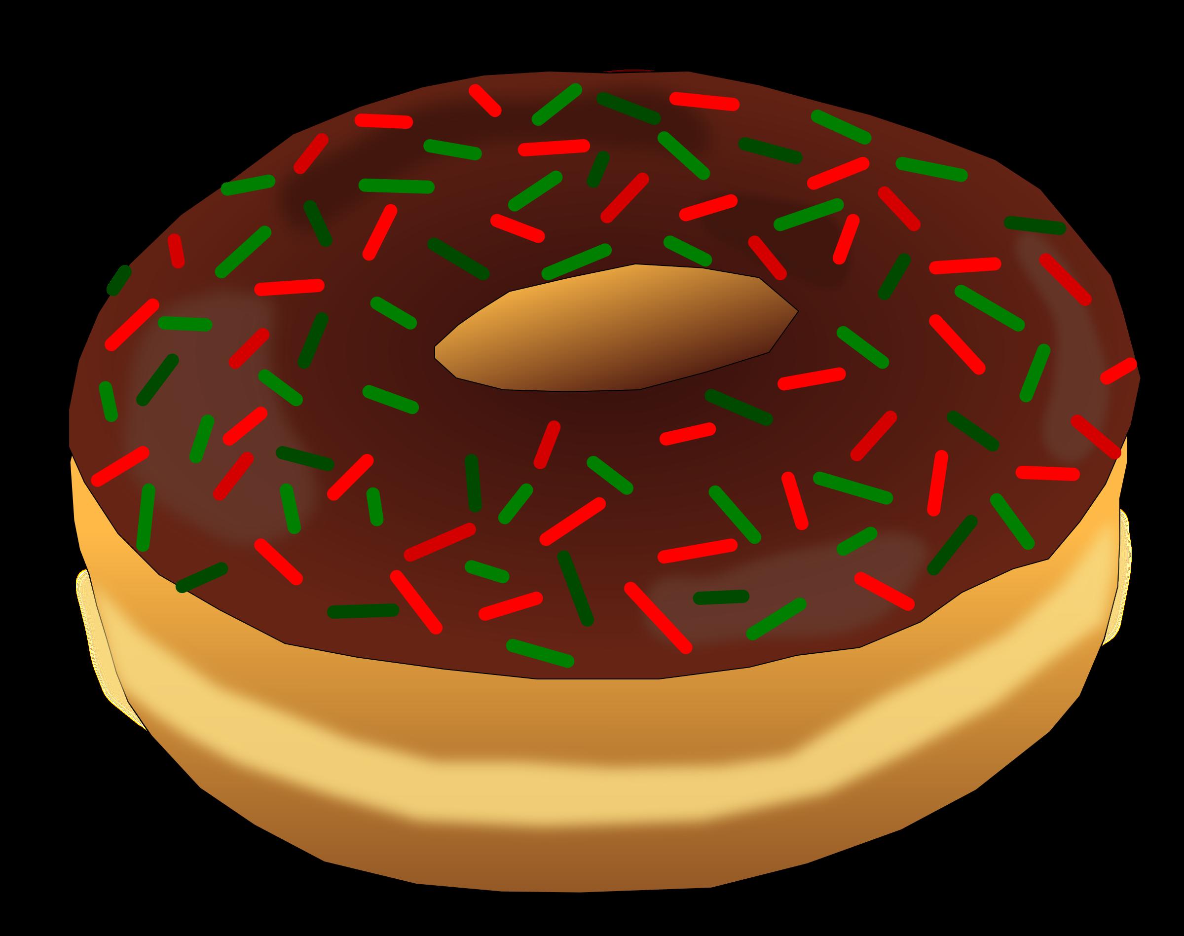 Doughnut clipart pastel. Christmas donut big image