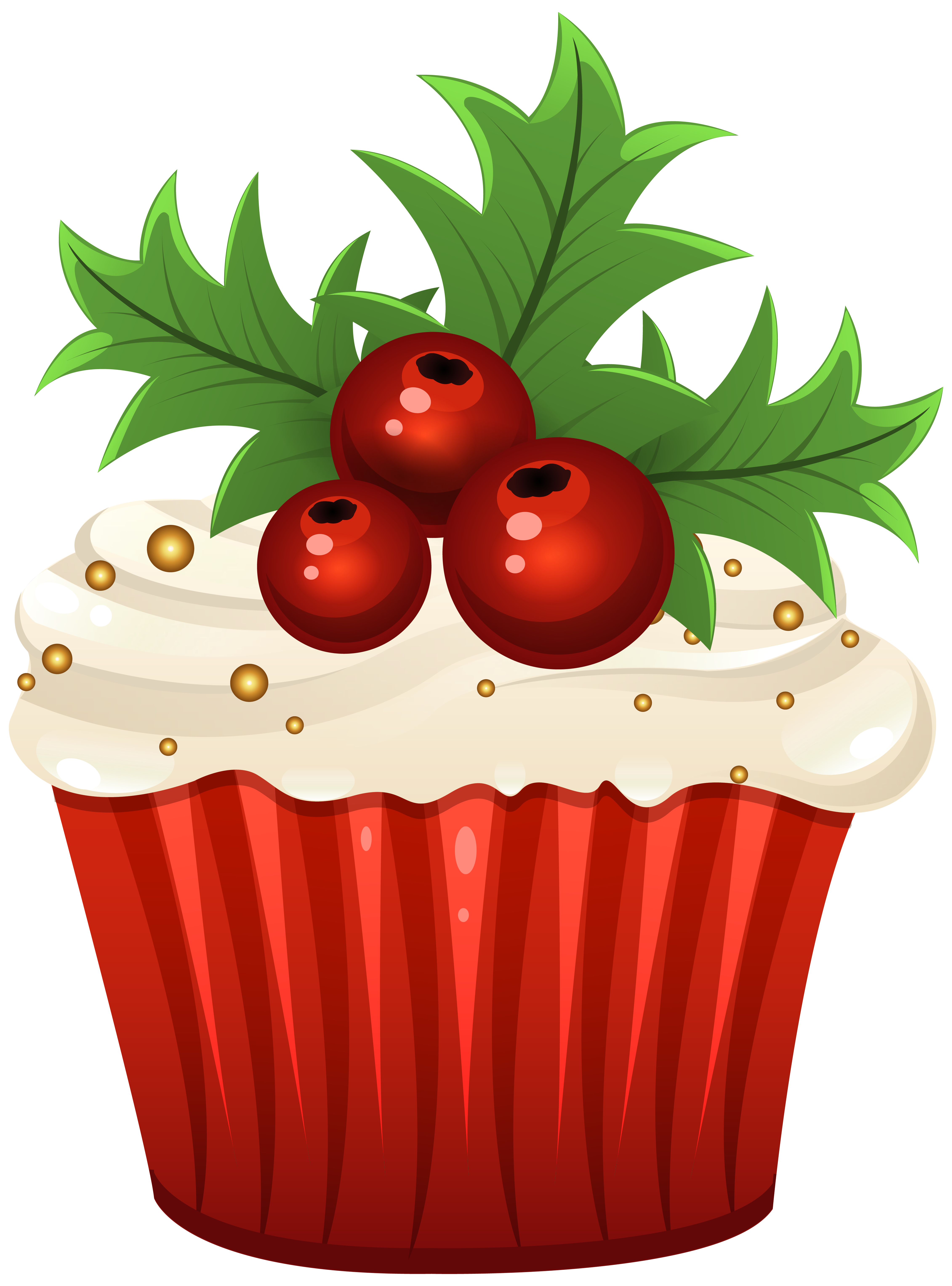 Muffins clipart big cupcake. Christmas muffin png clip