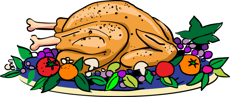 Amazing thanksgiving dinner table. Menu clipart senior lunch