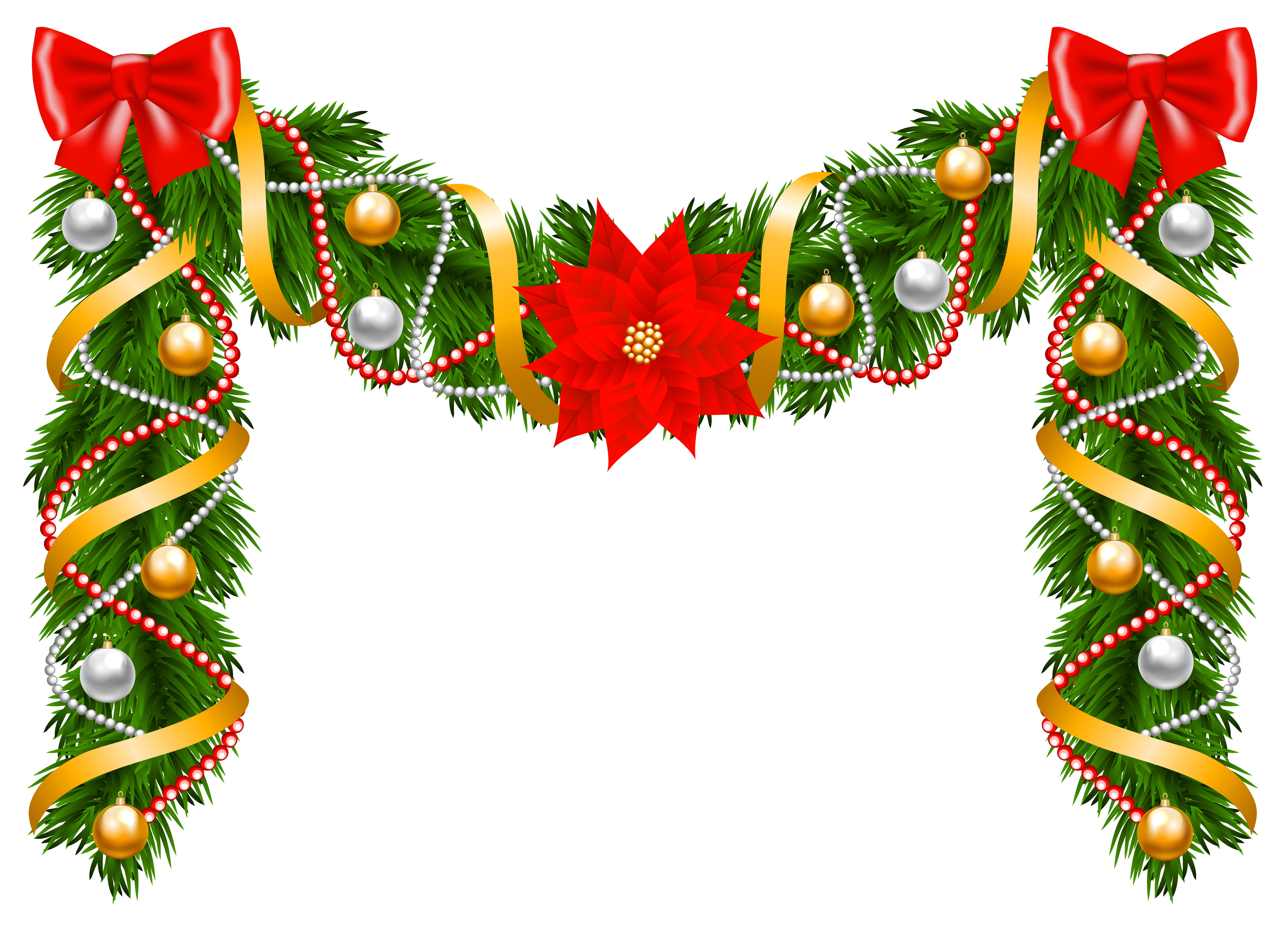 Christmas deco png image. Clipart fruit garland