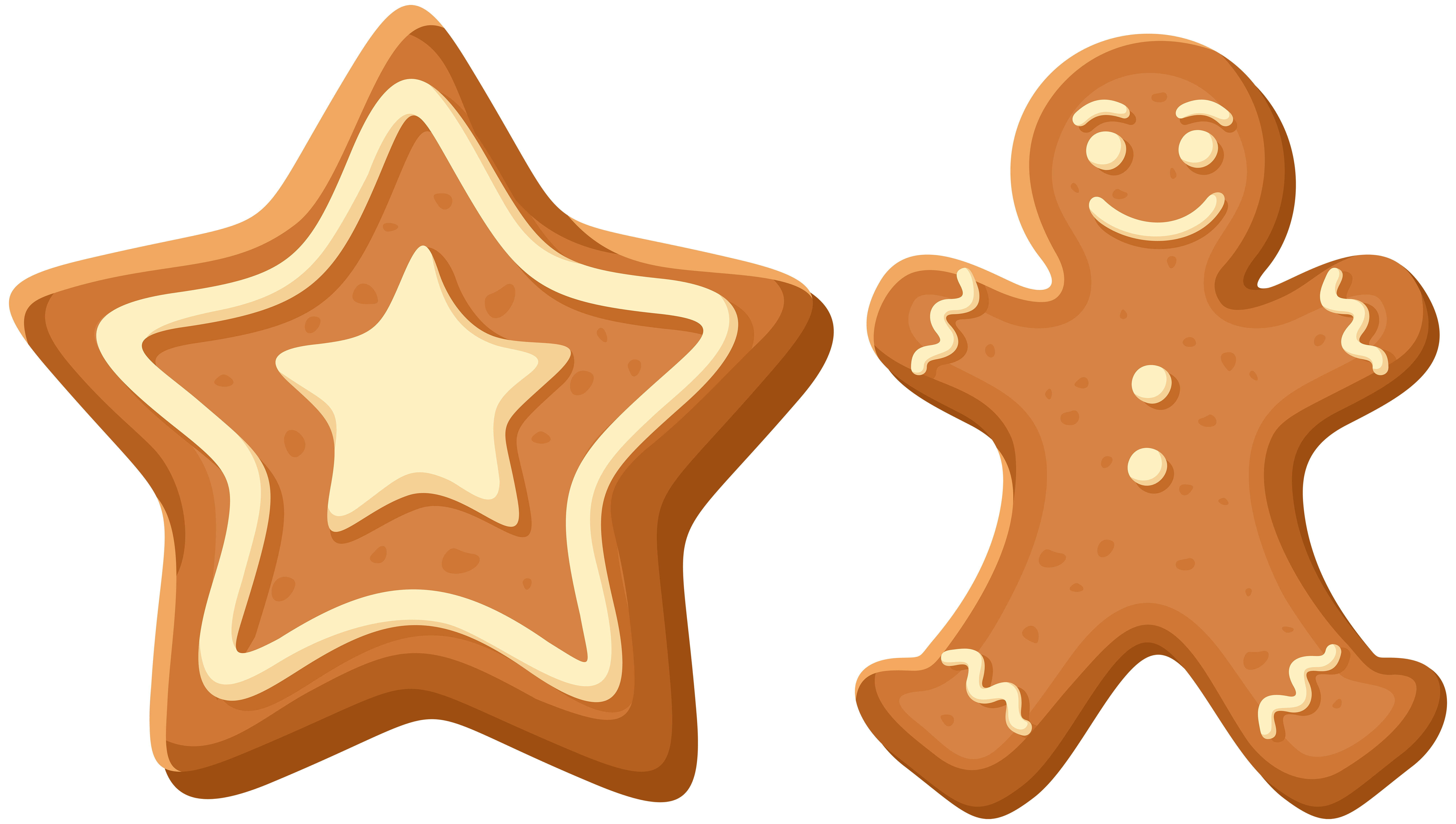 Icing gingerbread the man. Cookies clipart house