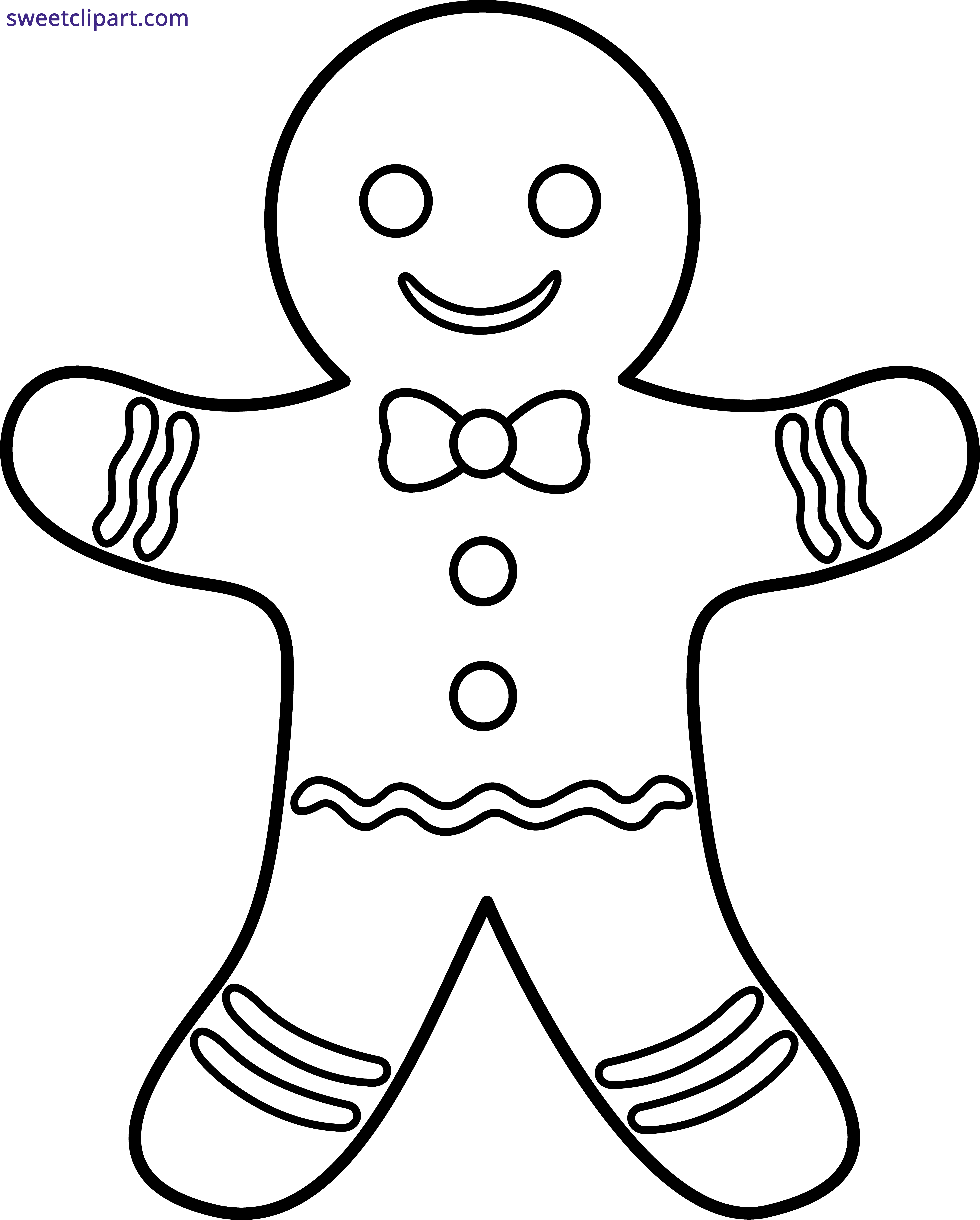 Gingerbread man sweet clip. Drinks clipart outline