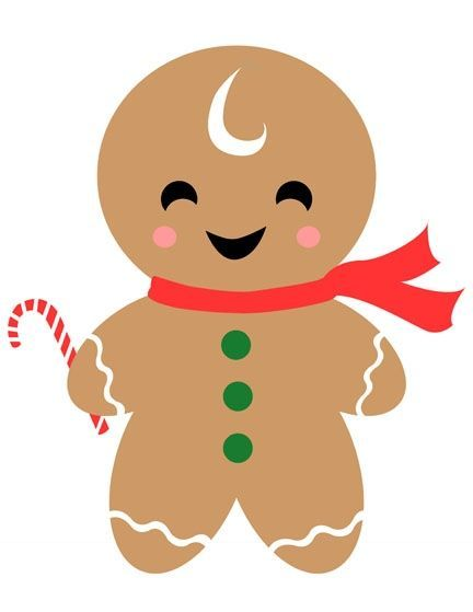 Gingerbread clipart merry christmas. Man gift tag paper