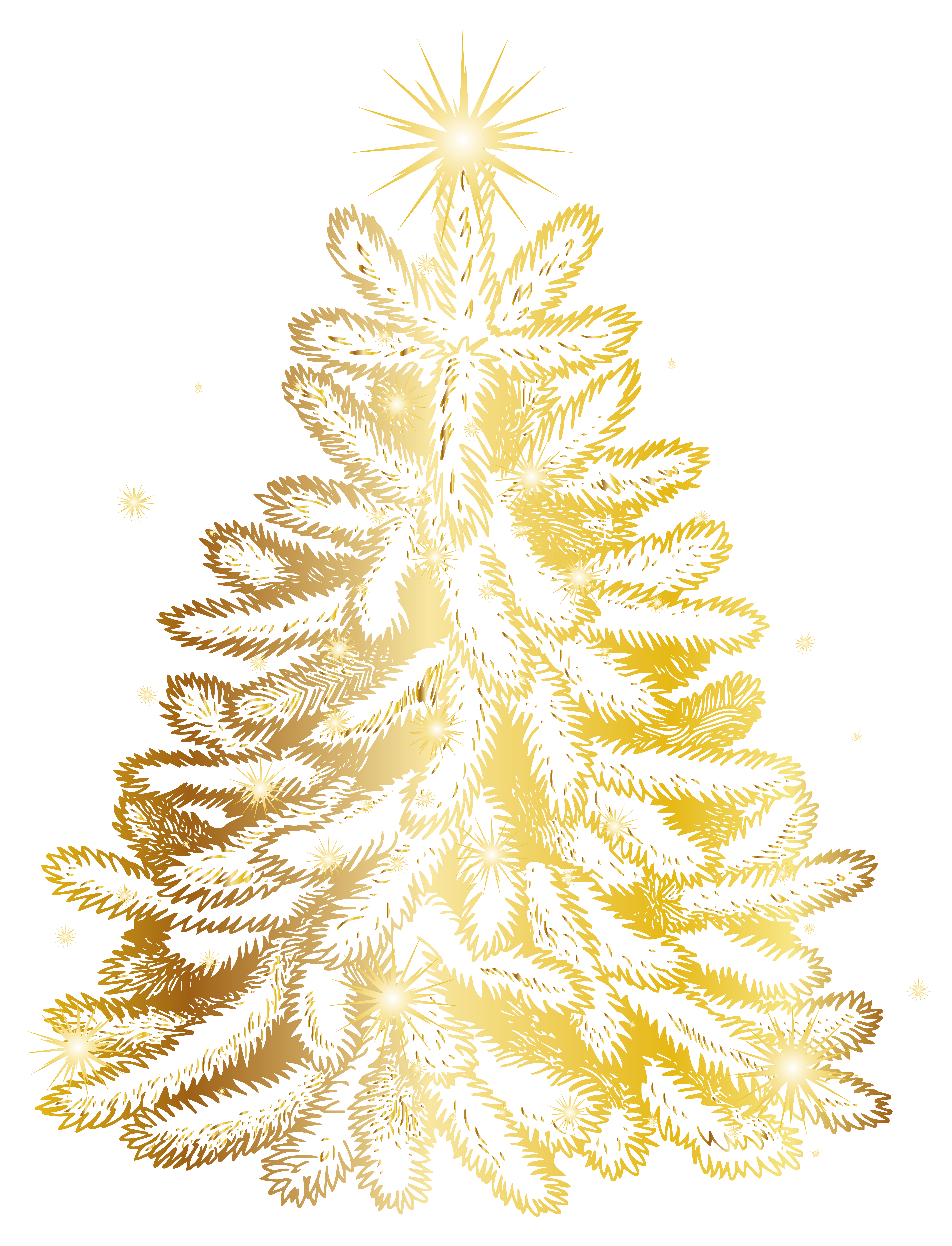 Christmas tree transparent png. Gold clipart xmas