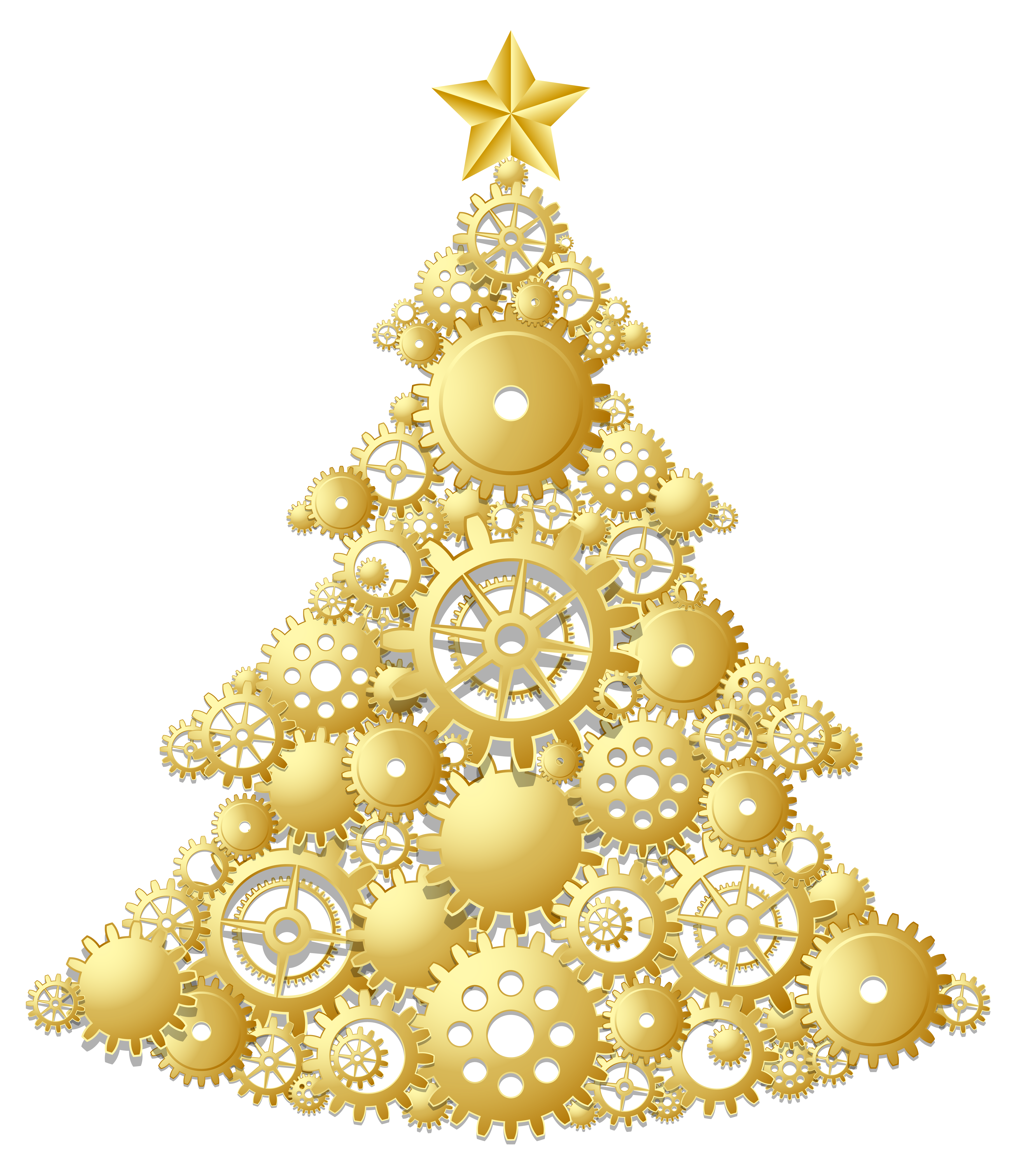 Gold tree png gallery. Steampunk clipart christmas