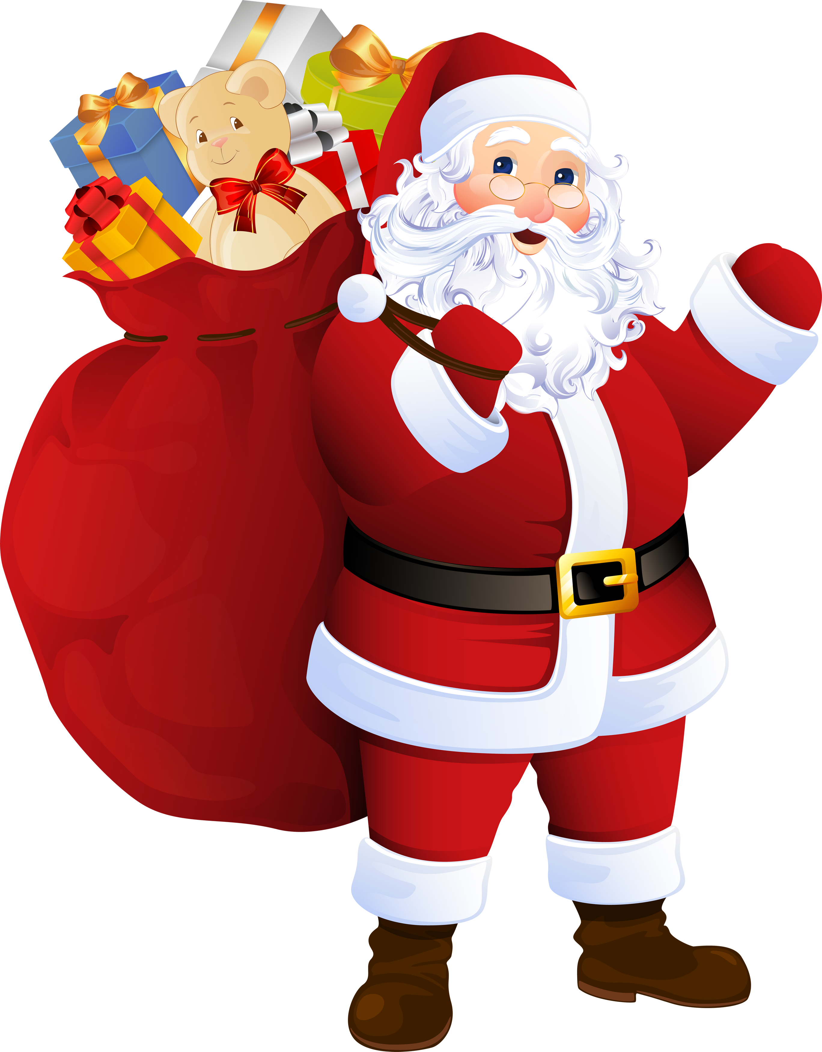 Father christmas claus png. Sunglasses clipart santa