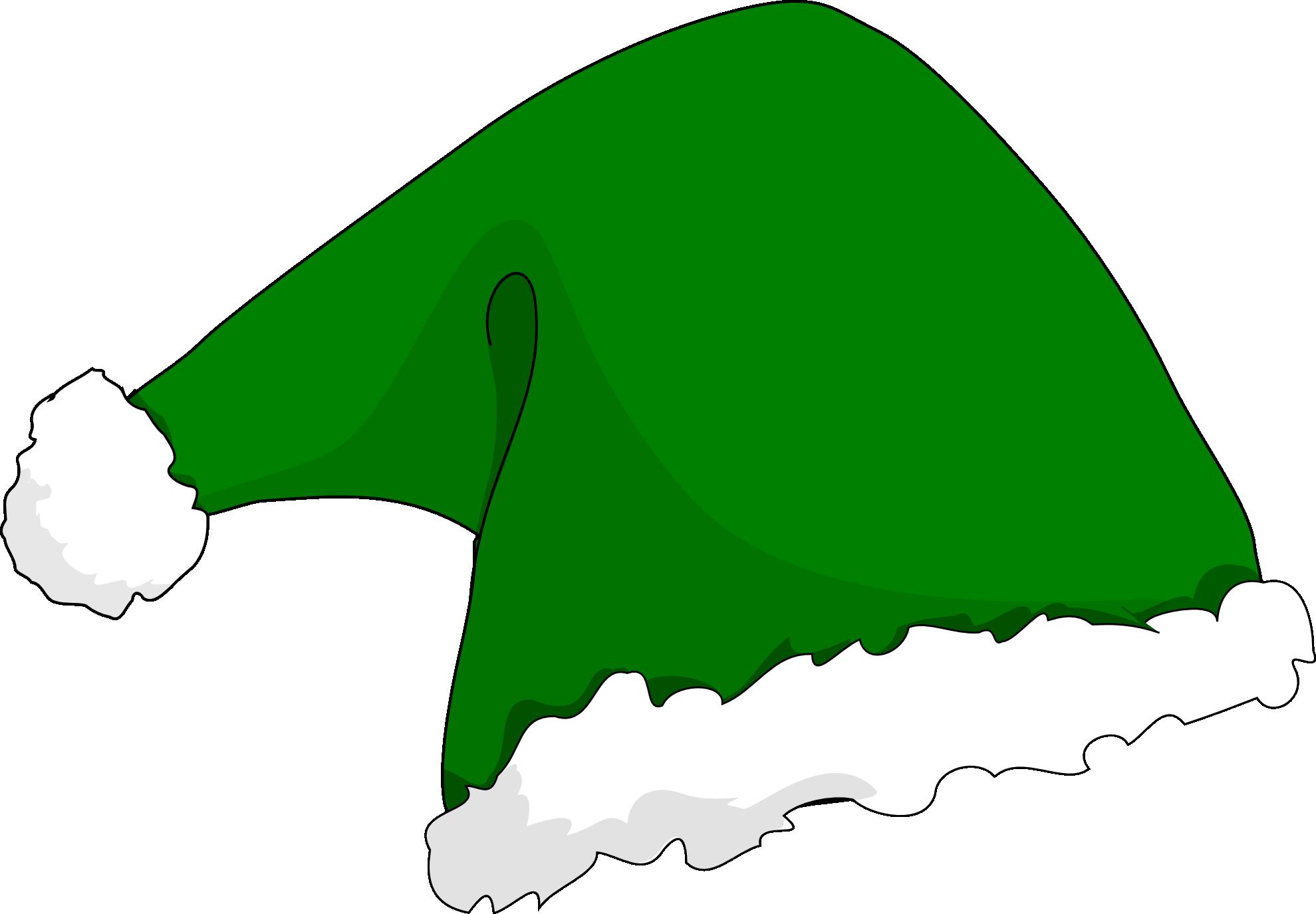collection of green. Hats clipart santas