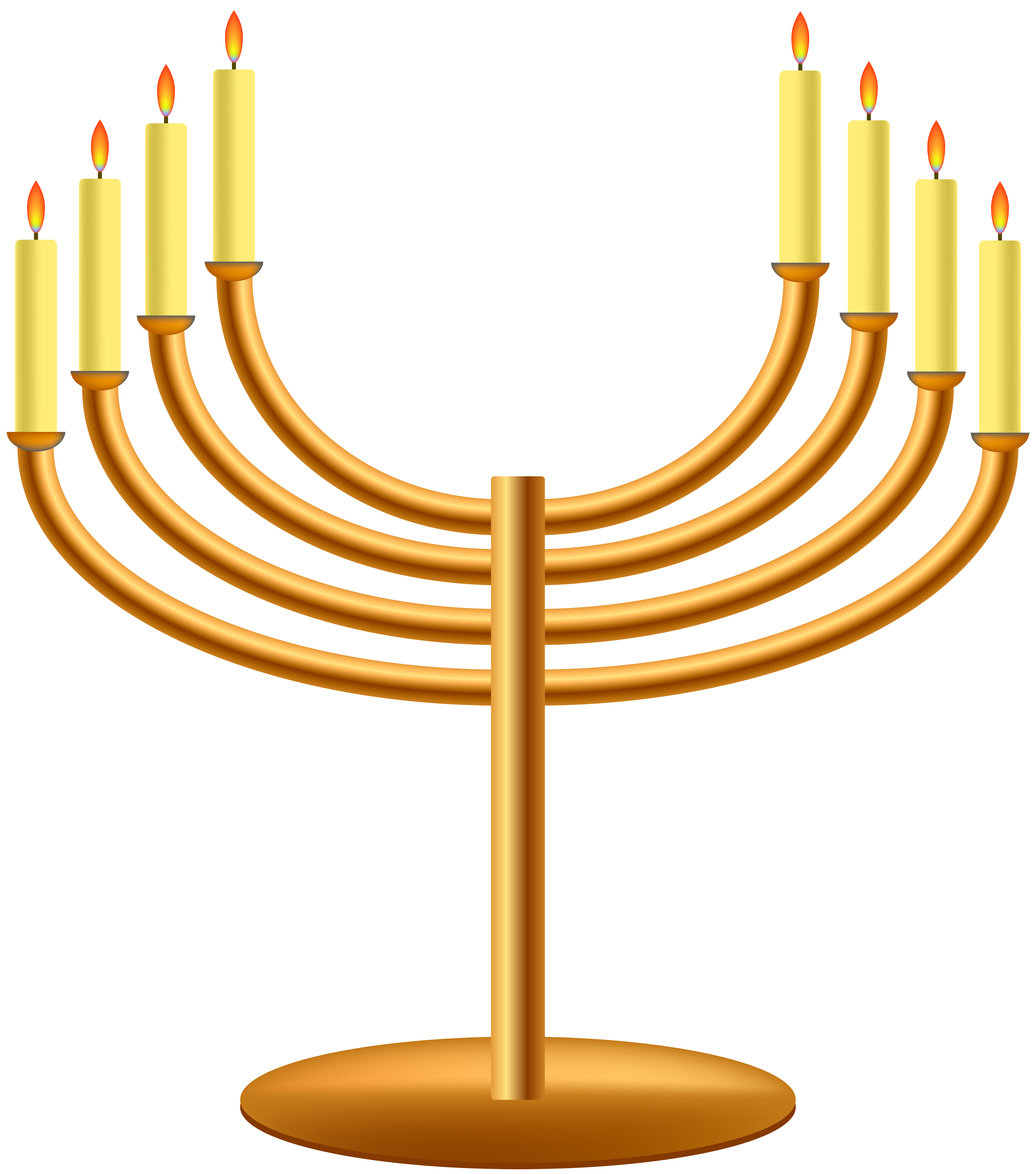 Hanukkah png clip art. Menorah clipart small