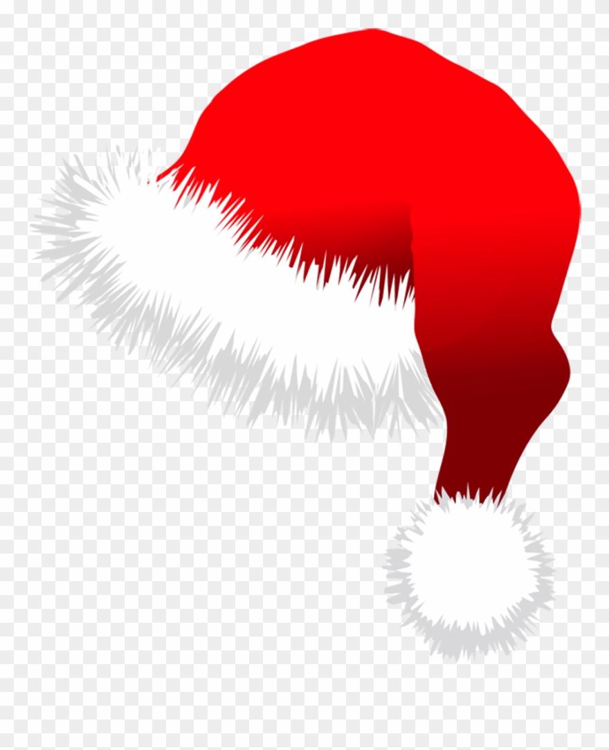 Transparent santa hat on. Hats clipart christmas