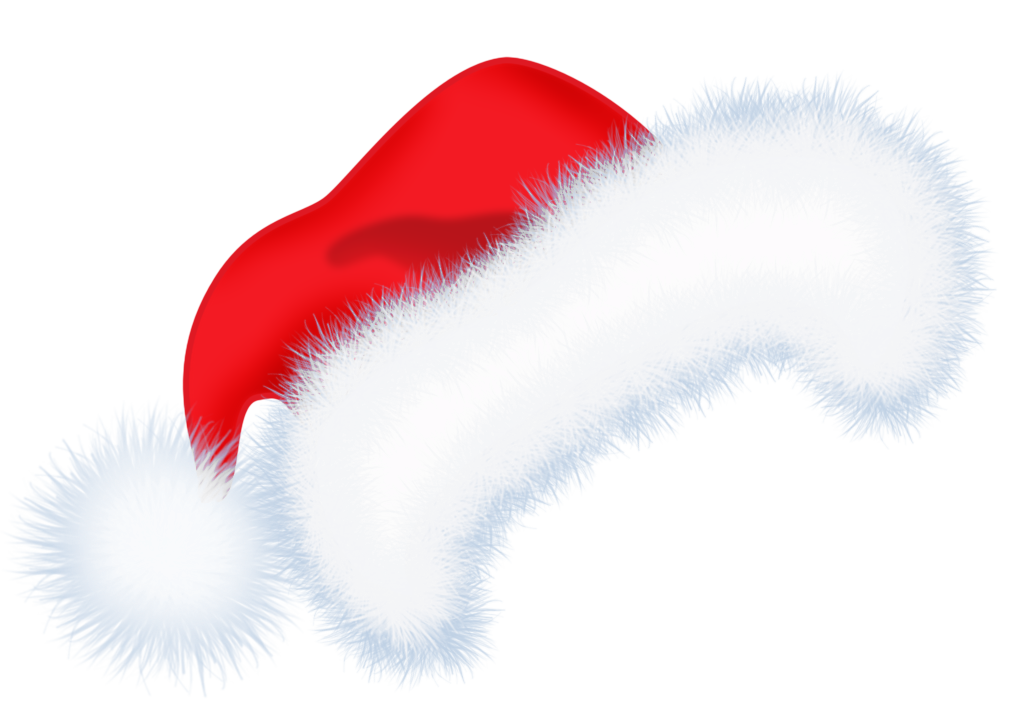 Large santa hat png. Hats clipart cute