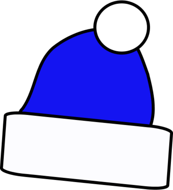 Blue santa . Hat clipart christmas