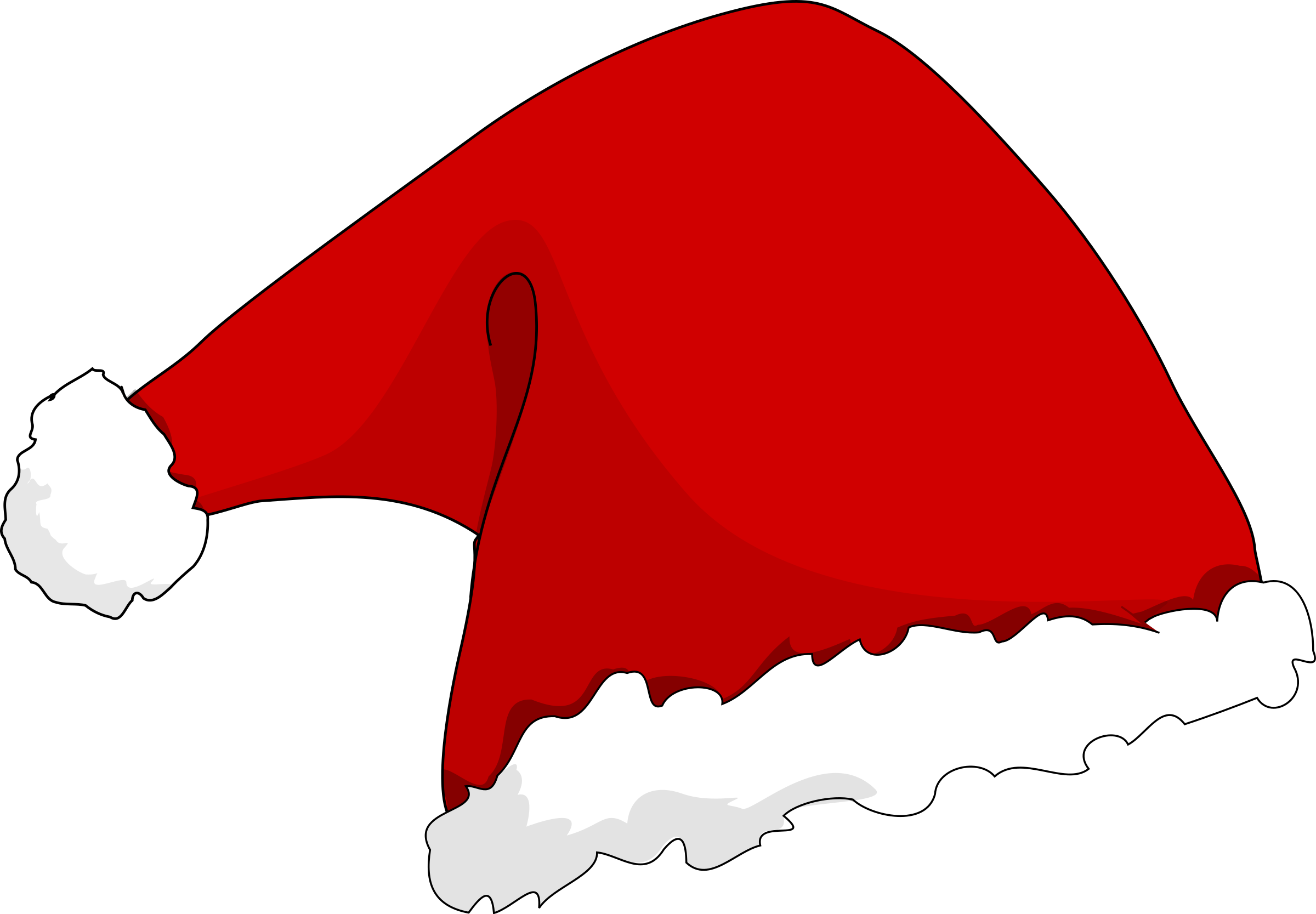 Big image png. Gingerbread clipart santa hat
