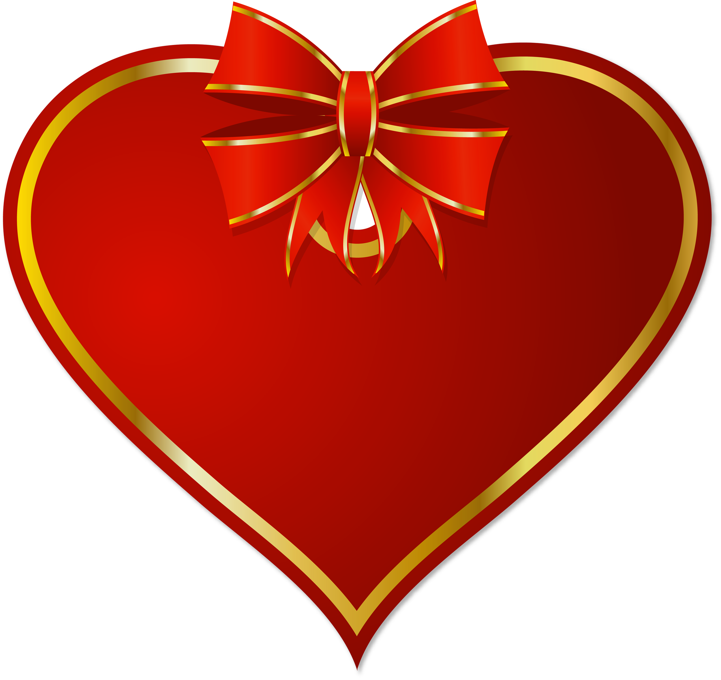 Red png heart with. Clipart hearts christmas