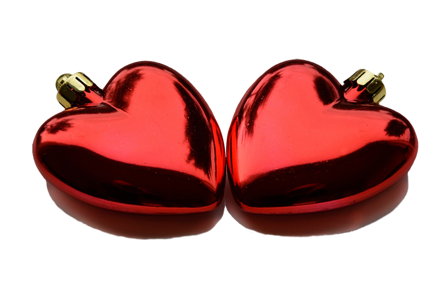 Clip art two red. Clipart christmas heart