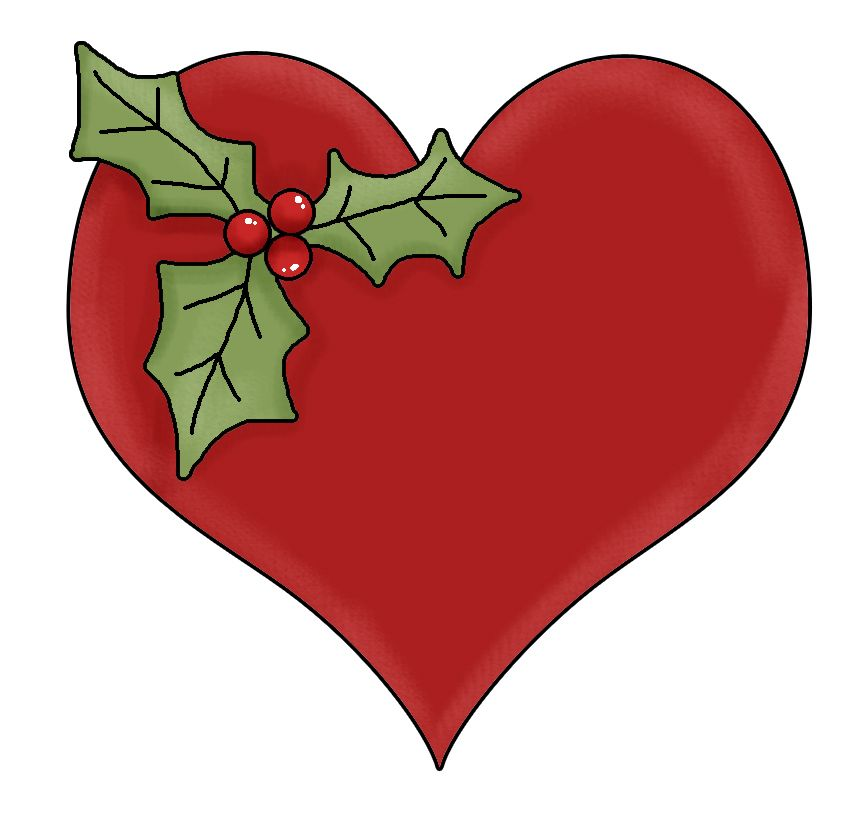 Clip art . Heart clipart christmas
