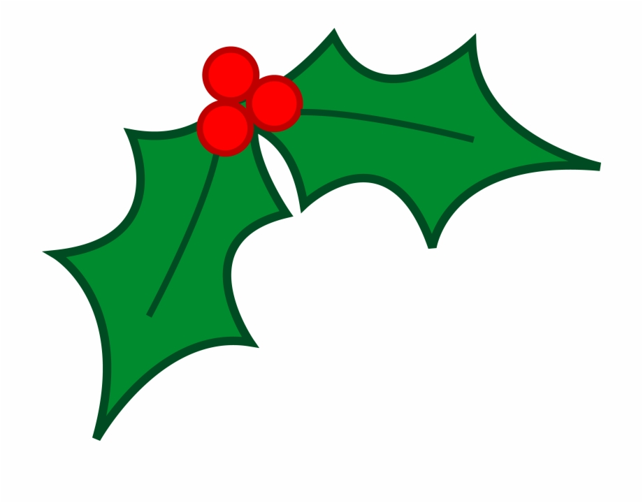 Free leaf christmas png. Holly clipart christmast
