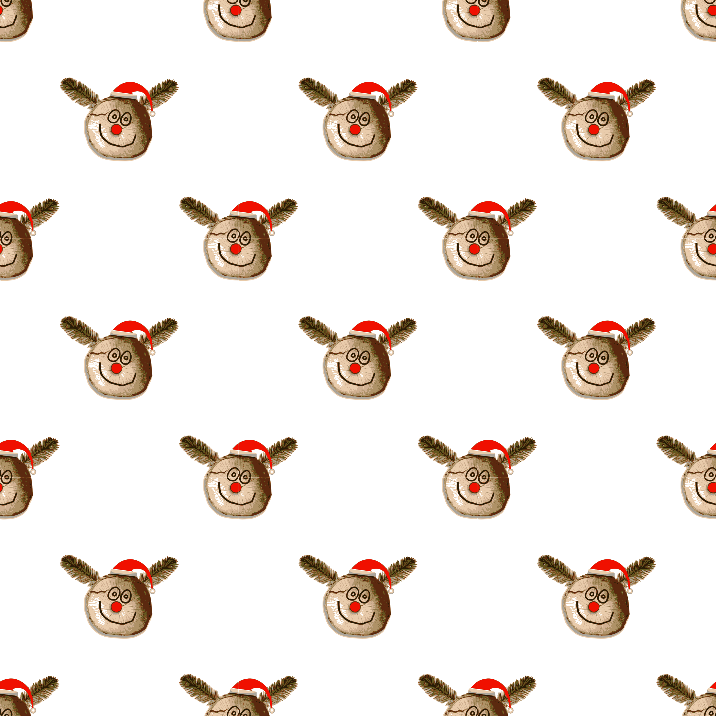 Christmas ornament seamless pattern. Nose clipart illustration
