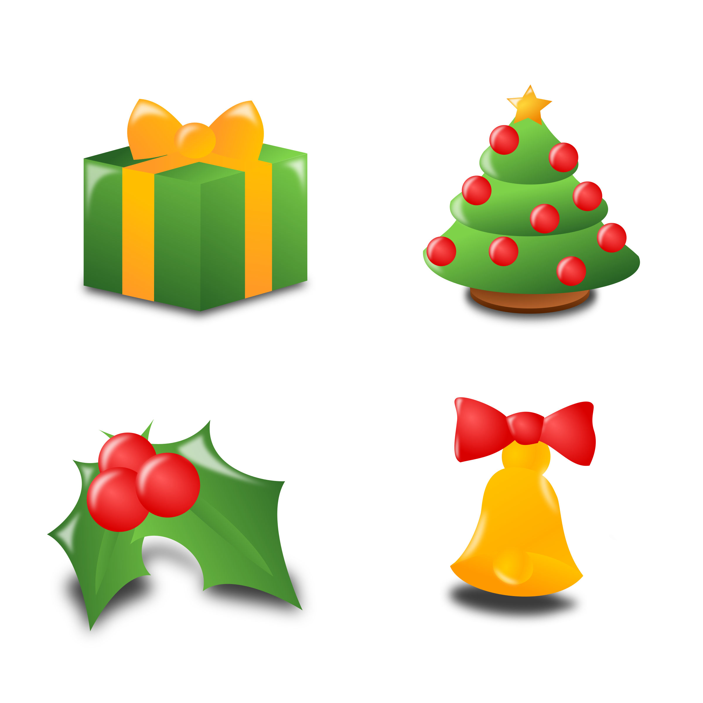 Christmas set collection big. Holly clipart icon