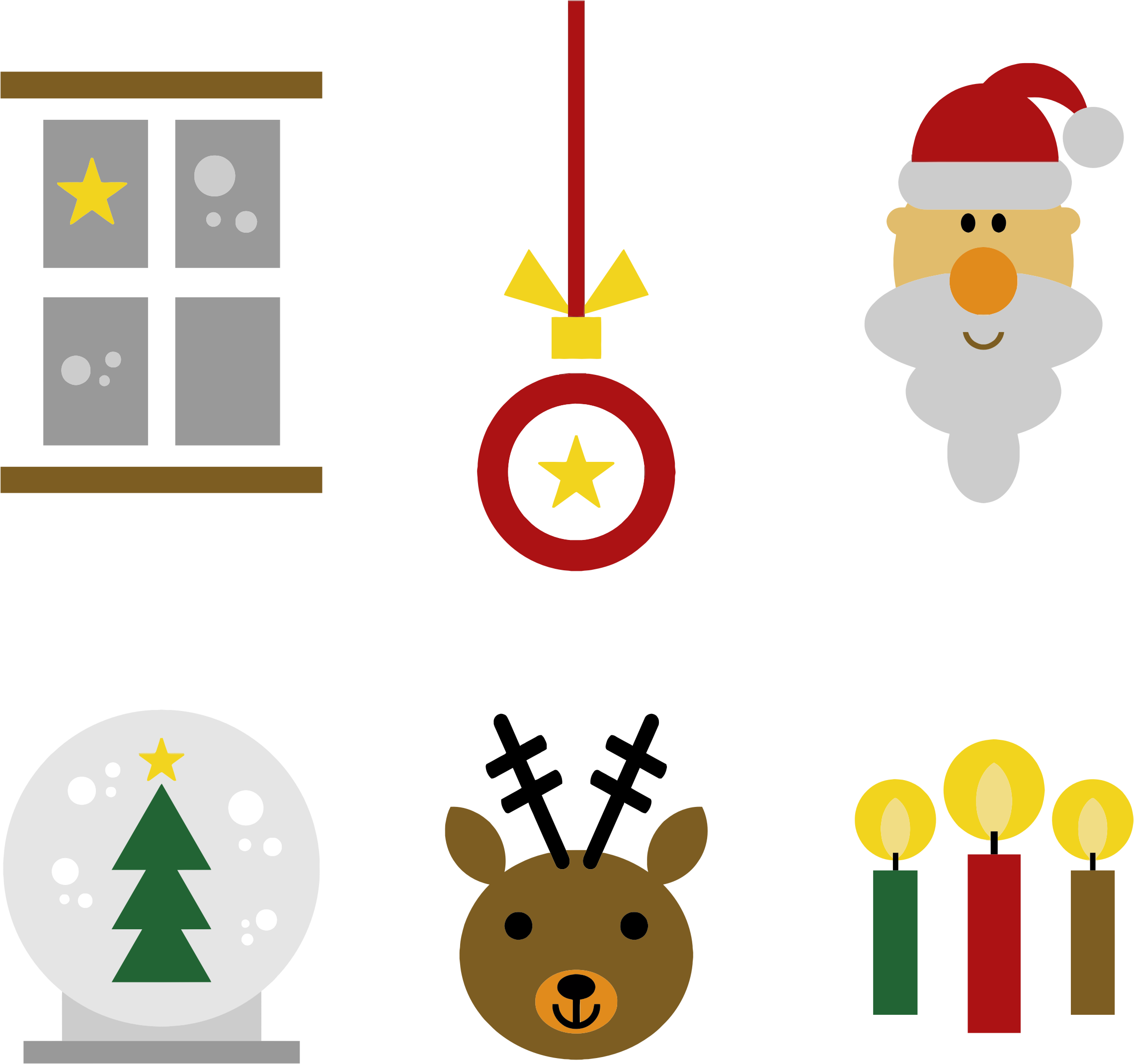 Clipart reindeer icon. Festive christmas icons big