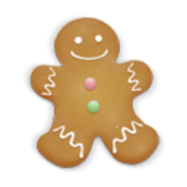 Christmas cookie man icon. Cracker clipart package
