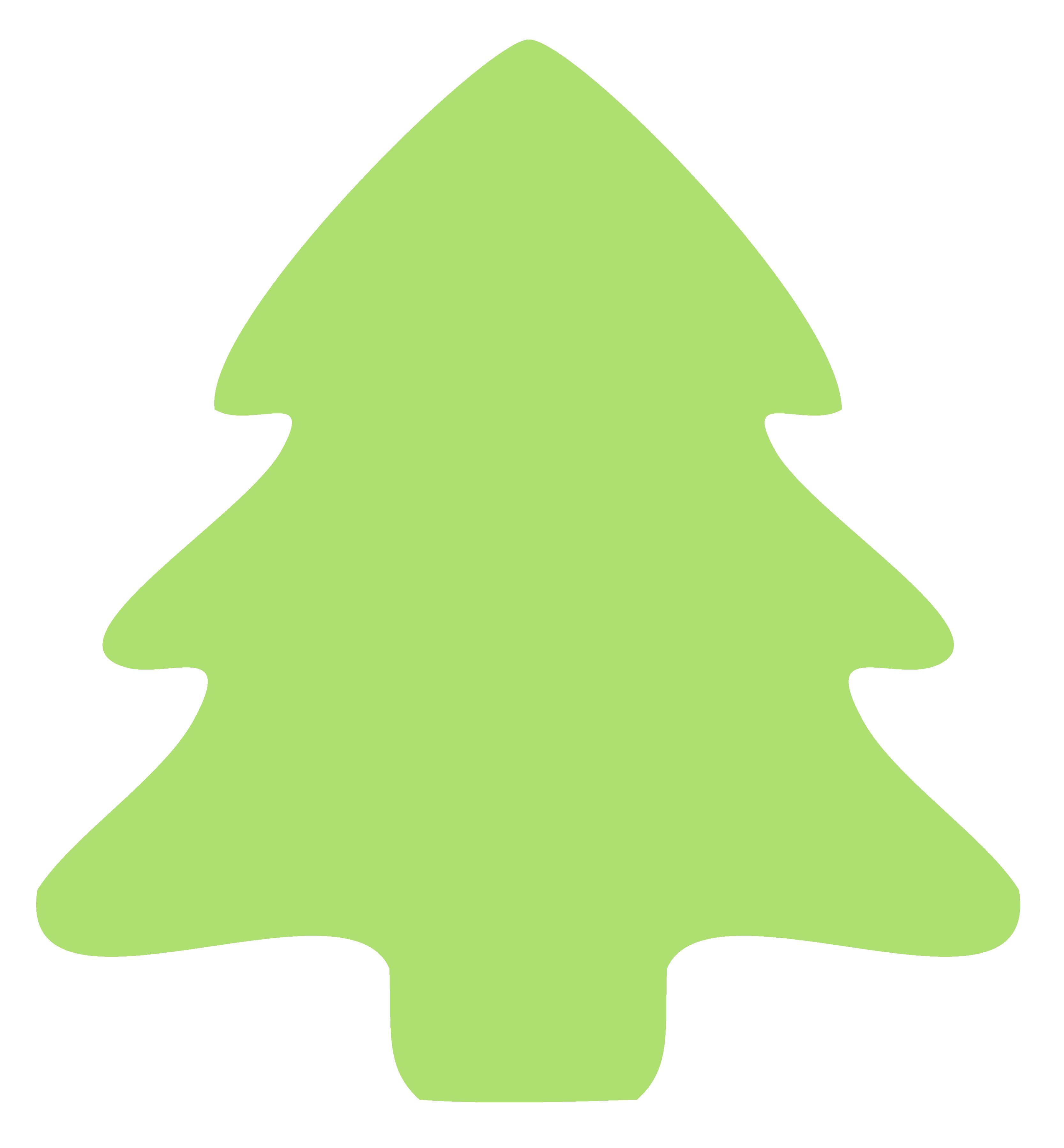 Christmas tree icon xmas. Leaf clipart plain