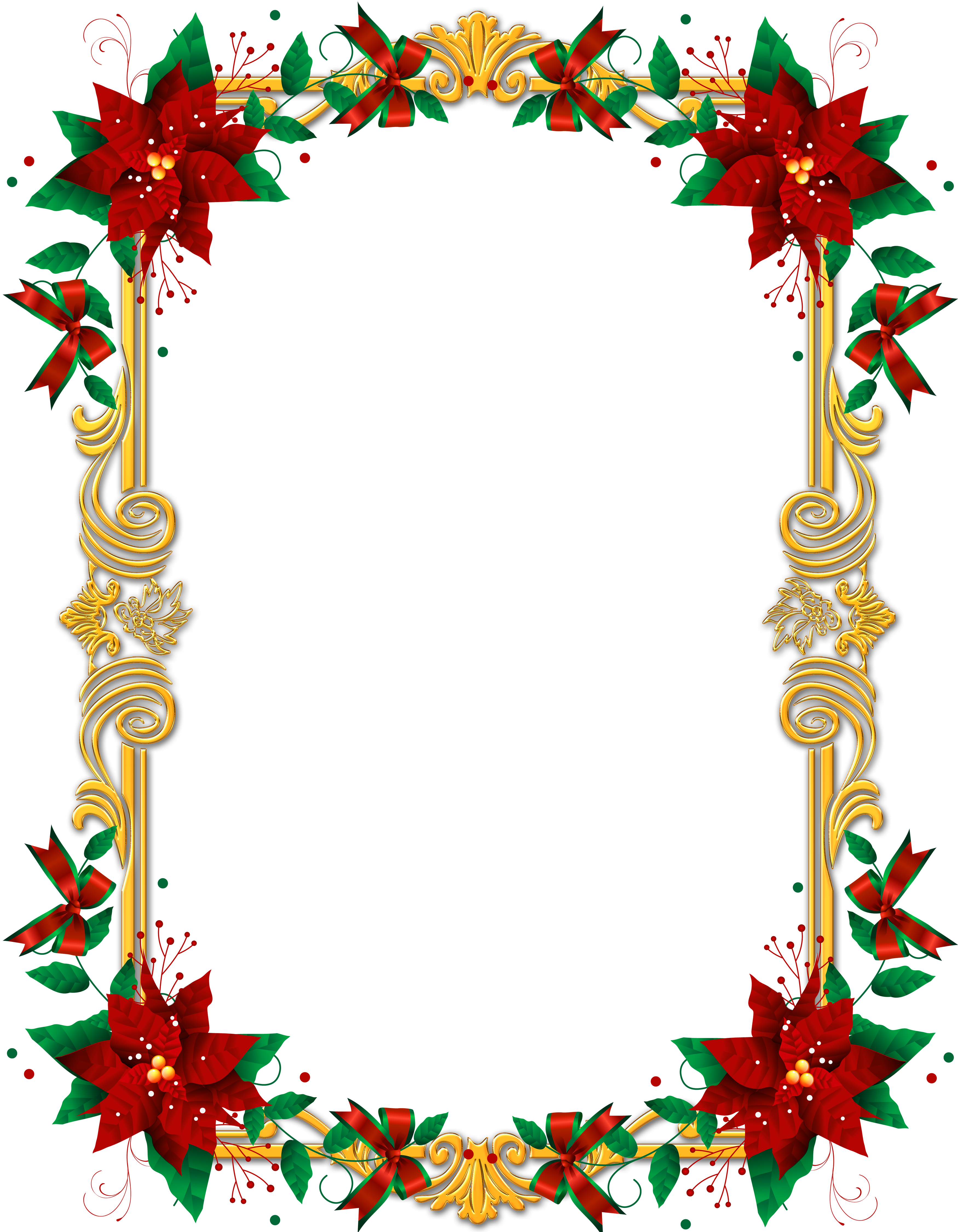 Clipart christmas invitation. Transparent png frame with