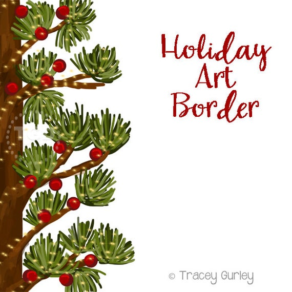 Clipart christmas invitation. Holiday art border clip