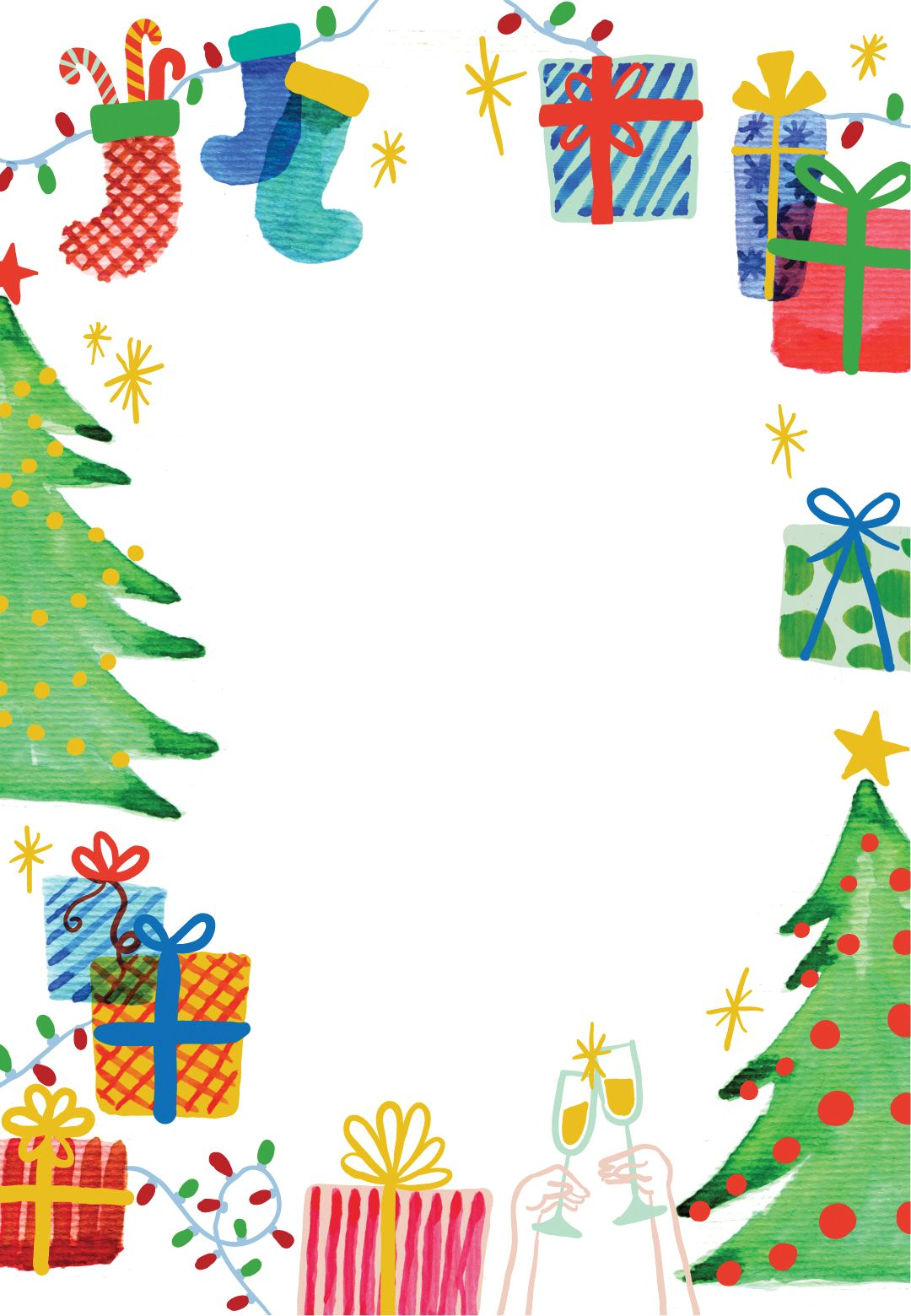 Clipart christmas invitation. Best holiday ever free