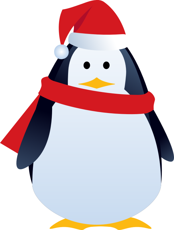Clipart penguin penguin family. Get knitted this christmas