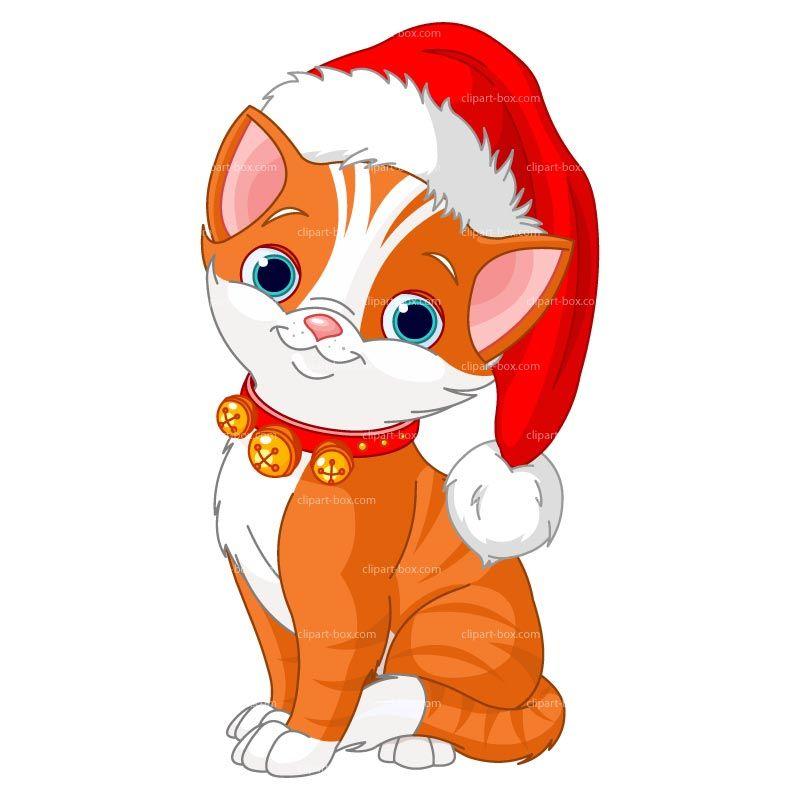 Images of cute christmas. Kittens clipart orange kitten